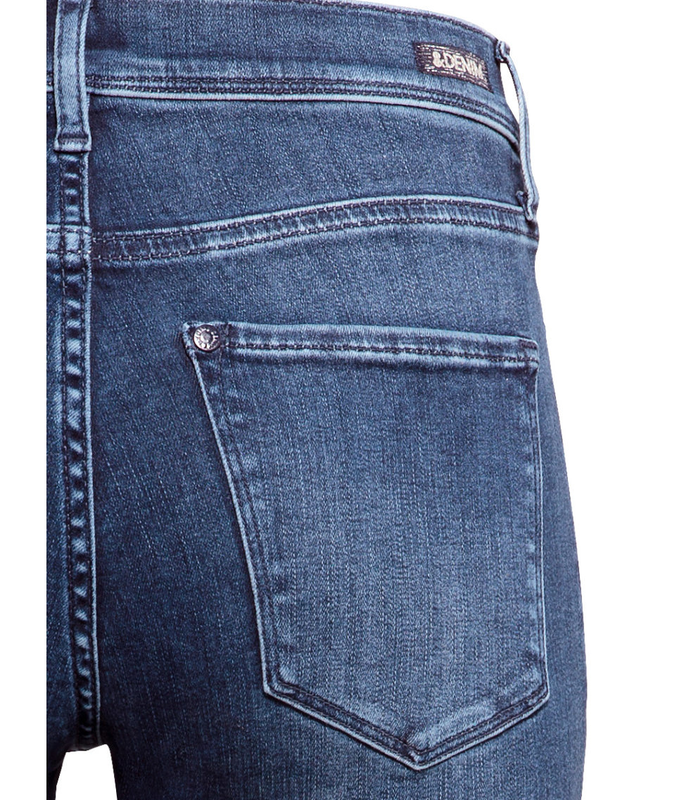 h m shaping flare regular jeans in blue lyst. Black Bedroom Furniture Sets. Home Design Ideas