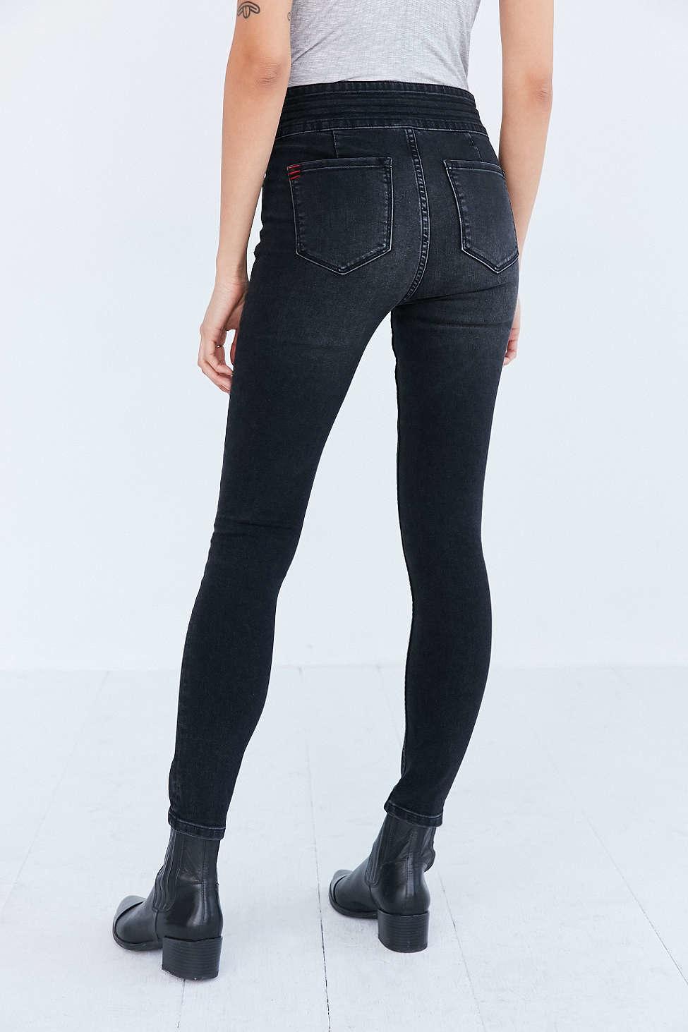 High Rise Skinny Jeans in Black. Sale $ Orig $