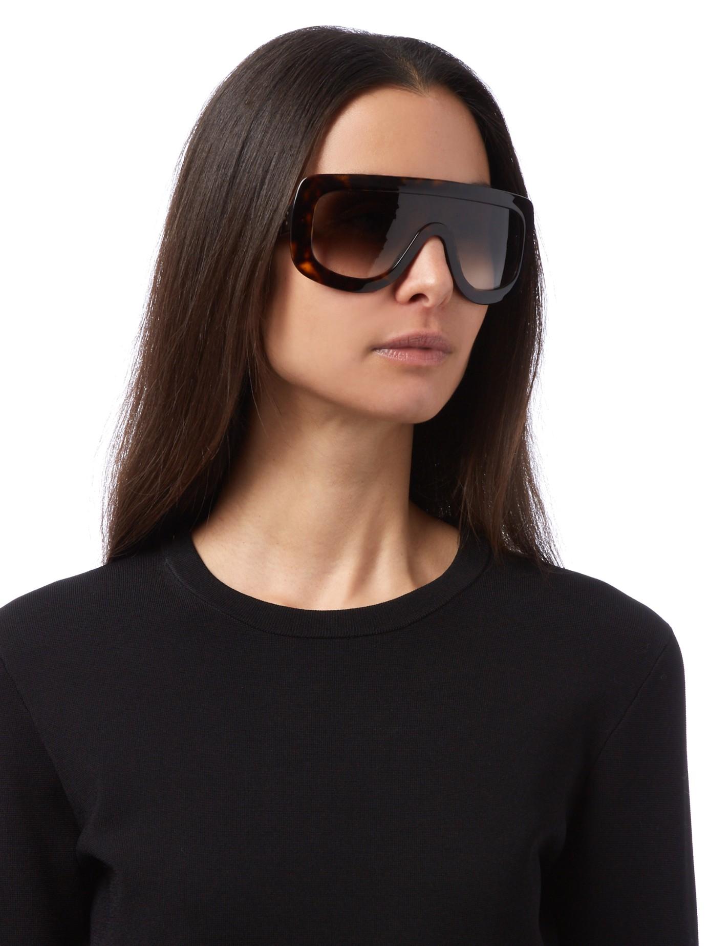 5e549afd91f5 Lyst - Céline Adele Acetate Sunglasses in Brown
