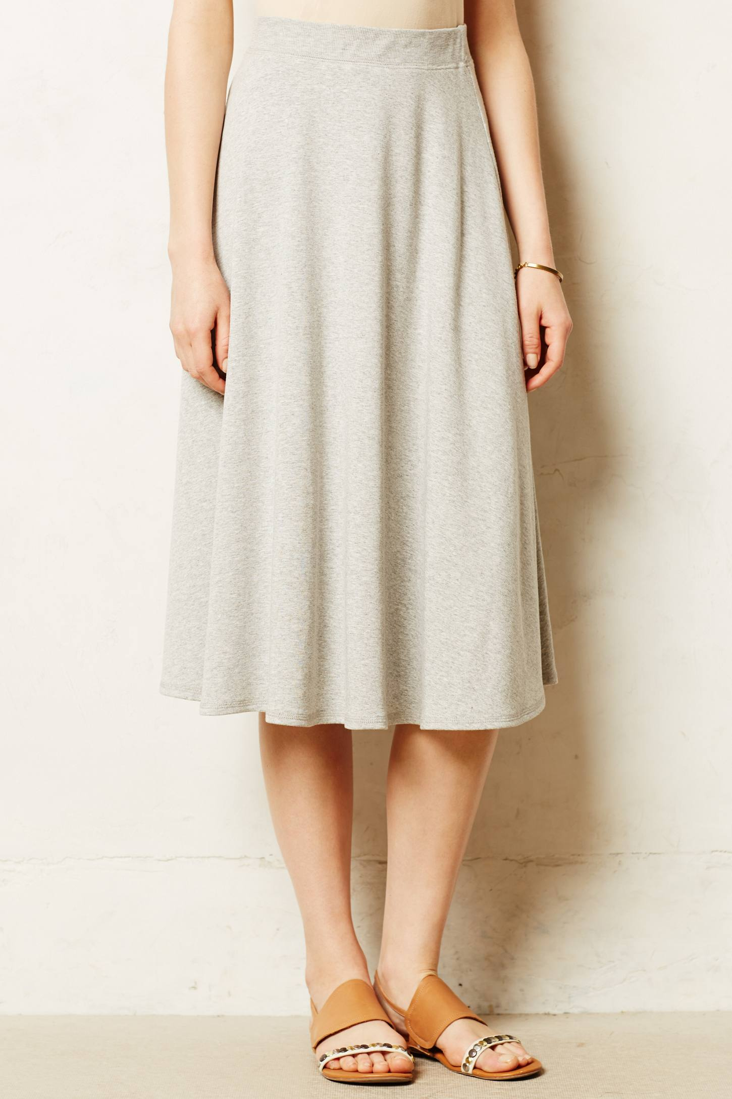 Bailey 44 Knit Midi Skirt in Gray | Lyst