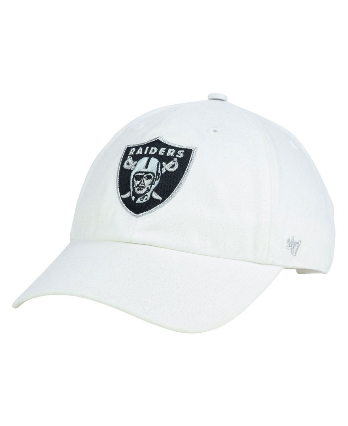 fc9fc4be72128 ... good lyst 47 brand womens oakland raiders luster clean up cap in white  c667c 178eb