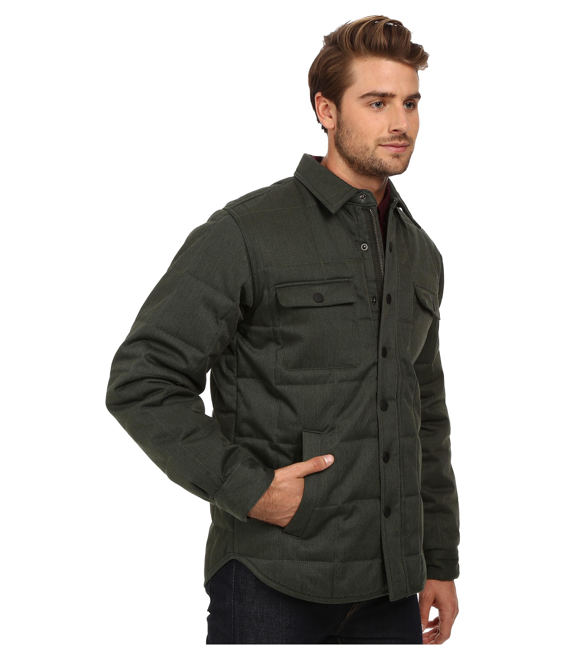 Deus ex machina James Overshirt Jacket in Green for Men | Lyst