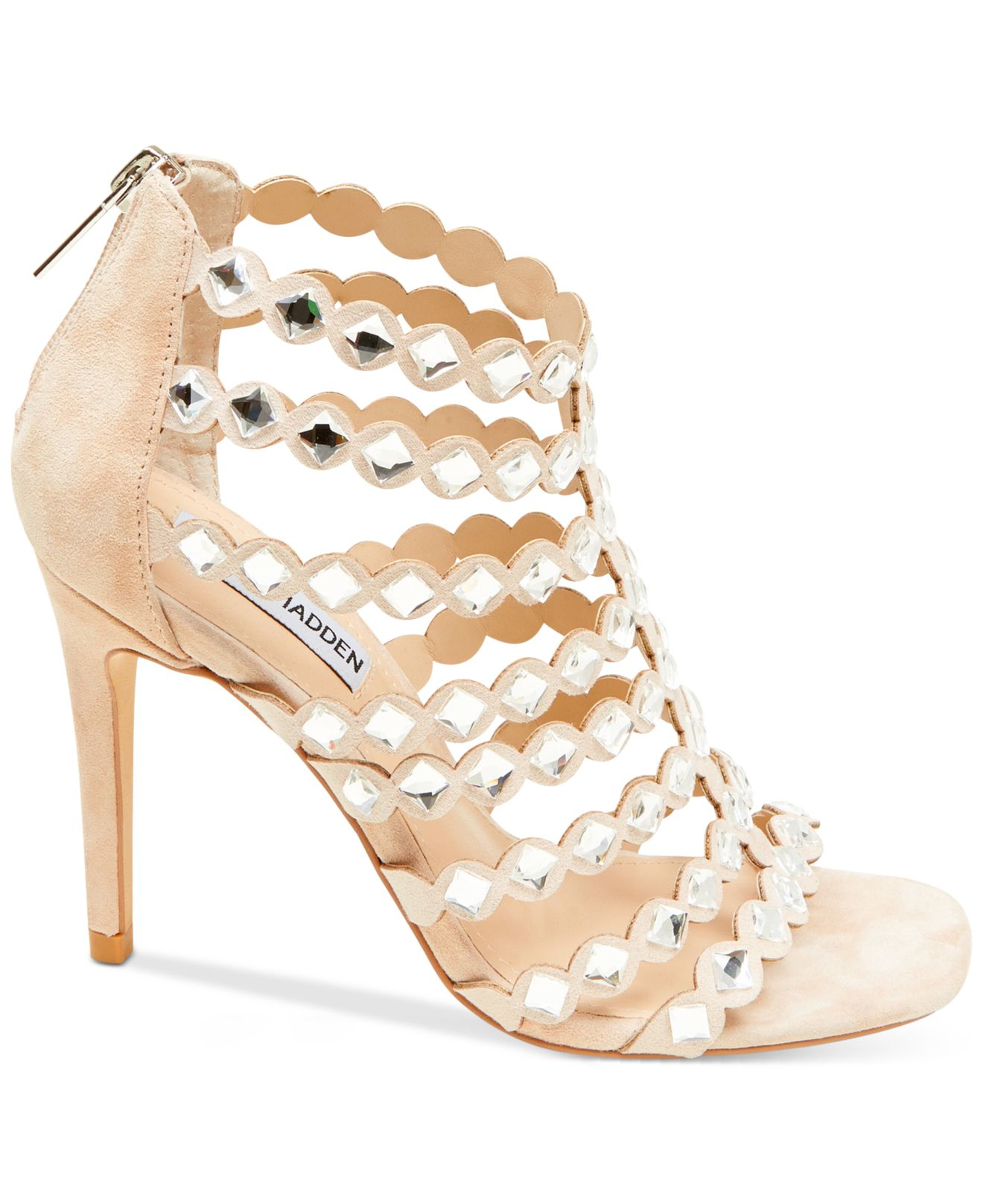 70adcfbd50a Lyst - Steve Madden Women s Shinning Cage Sandals in Pink