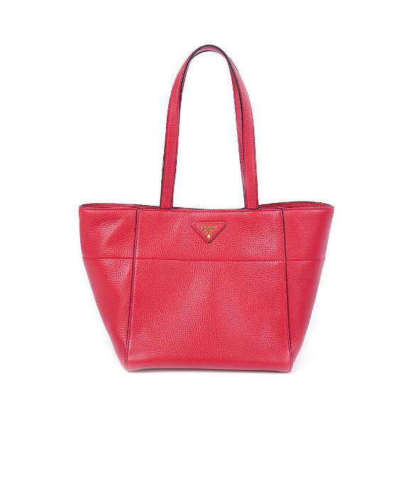 prada red tote bag