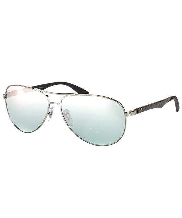 6296189b5e Gallery Buy Ray-Ban Men s Metallic Rb 8313 004 k6 Shiny Gunmetal Aviator Carbon  Fibre ...
