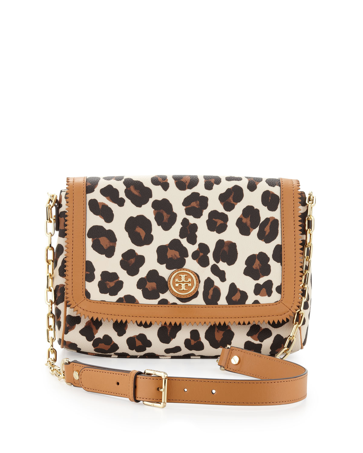 Tory burch Kerrington Leopardprint Crossbody Bag in Animal ...