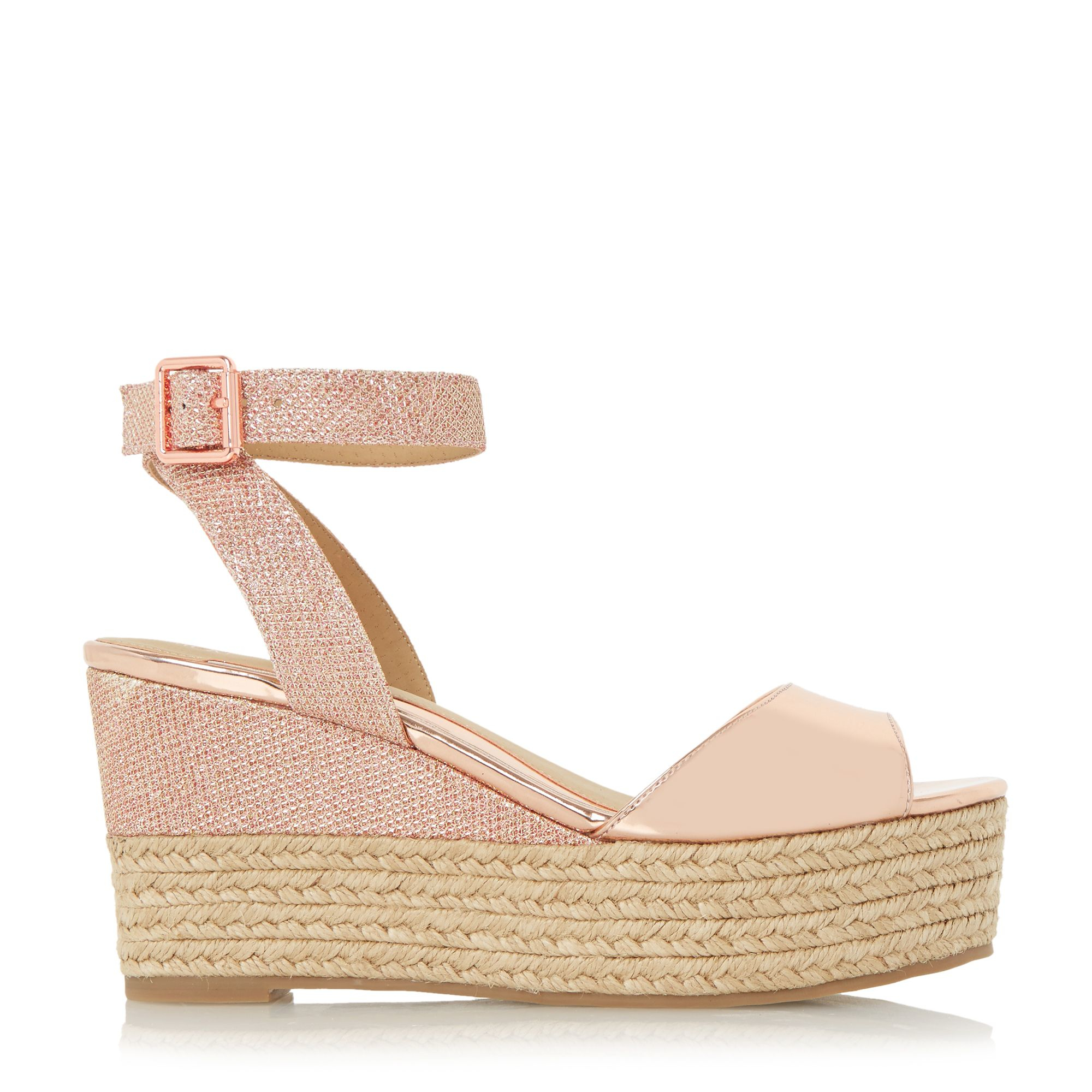 ce863311e10 Dune Kalmia Two Part Espadrille Wedge Sandals in Natural - Lyst