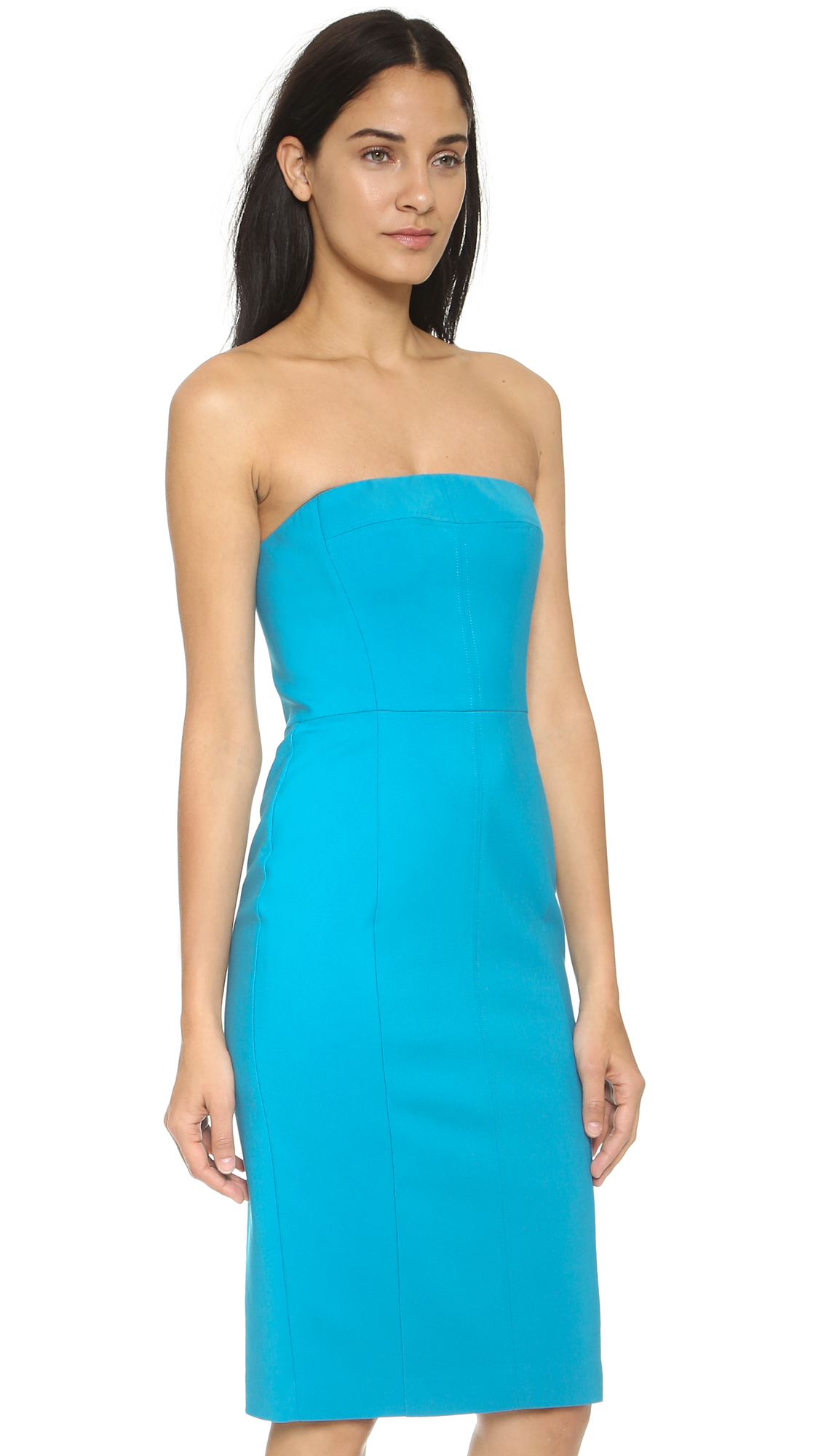Black halo Oslen Strapless Sheath Dress - Candy Apple in Blue | Lyst