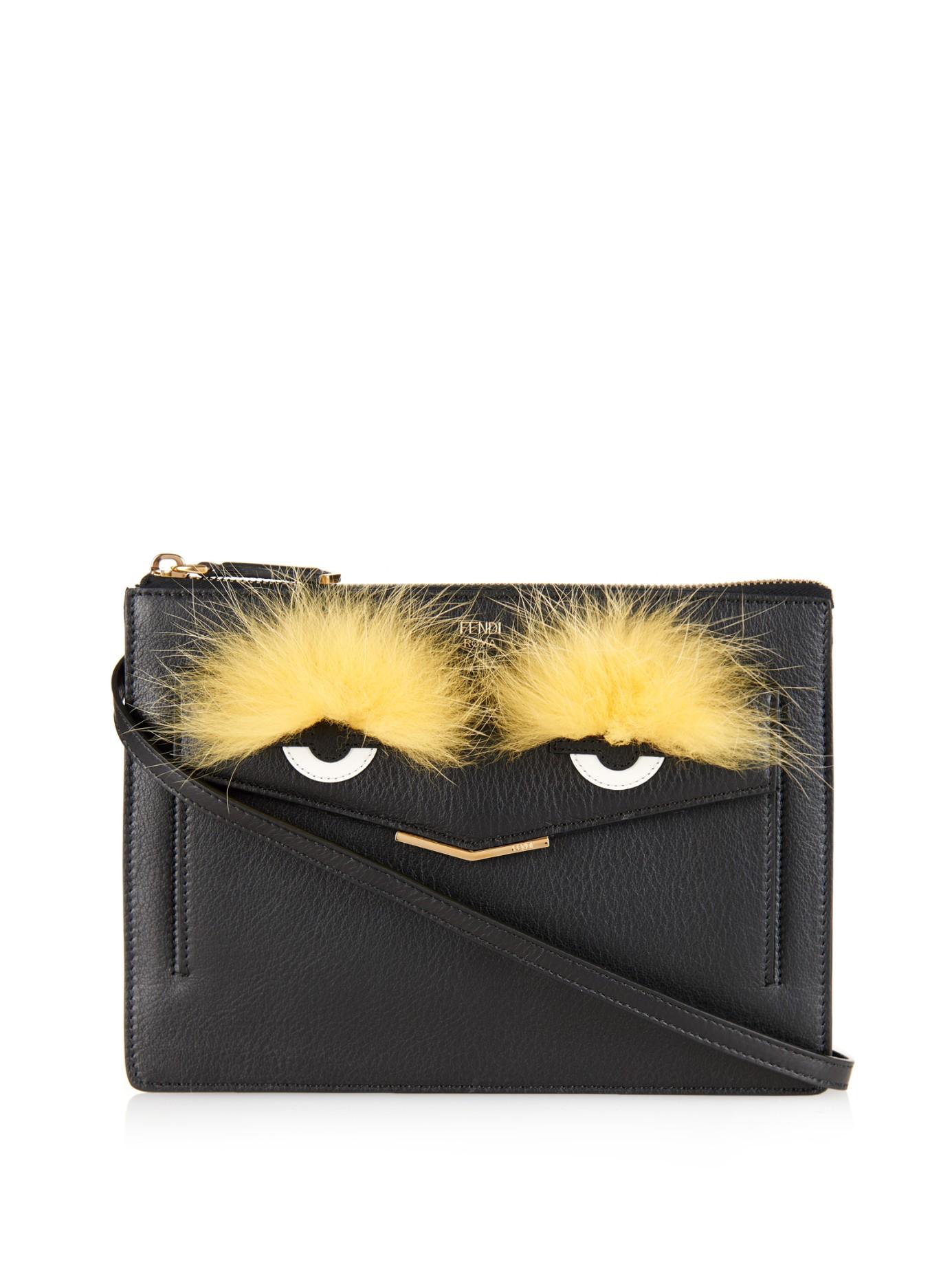 ... promo code for fendi 2jours bag bugs leather cross body bag in black  lyst 431e8 37436 9e21097f1dec0