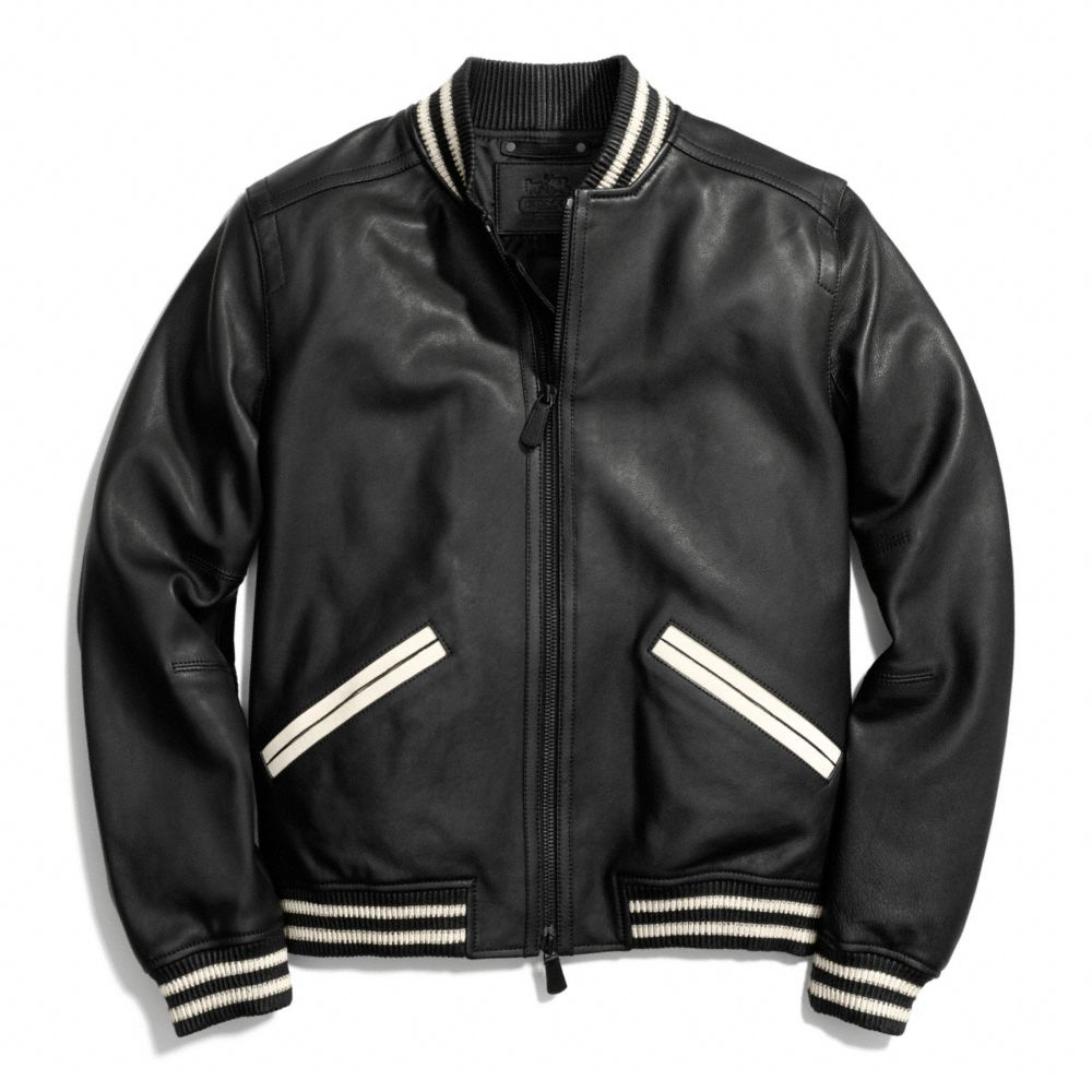 Leather Baseball Jacket Men - My Jacket