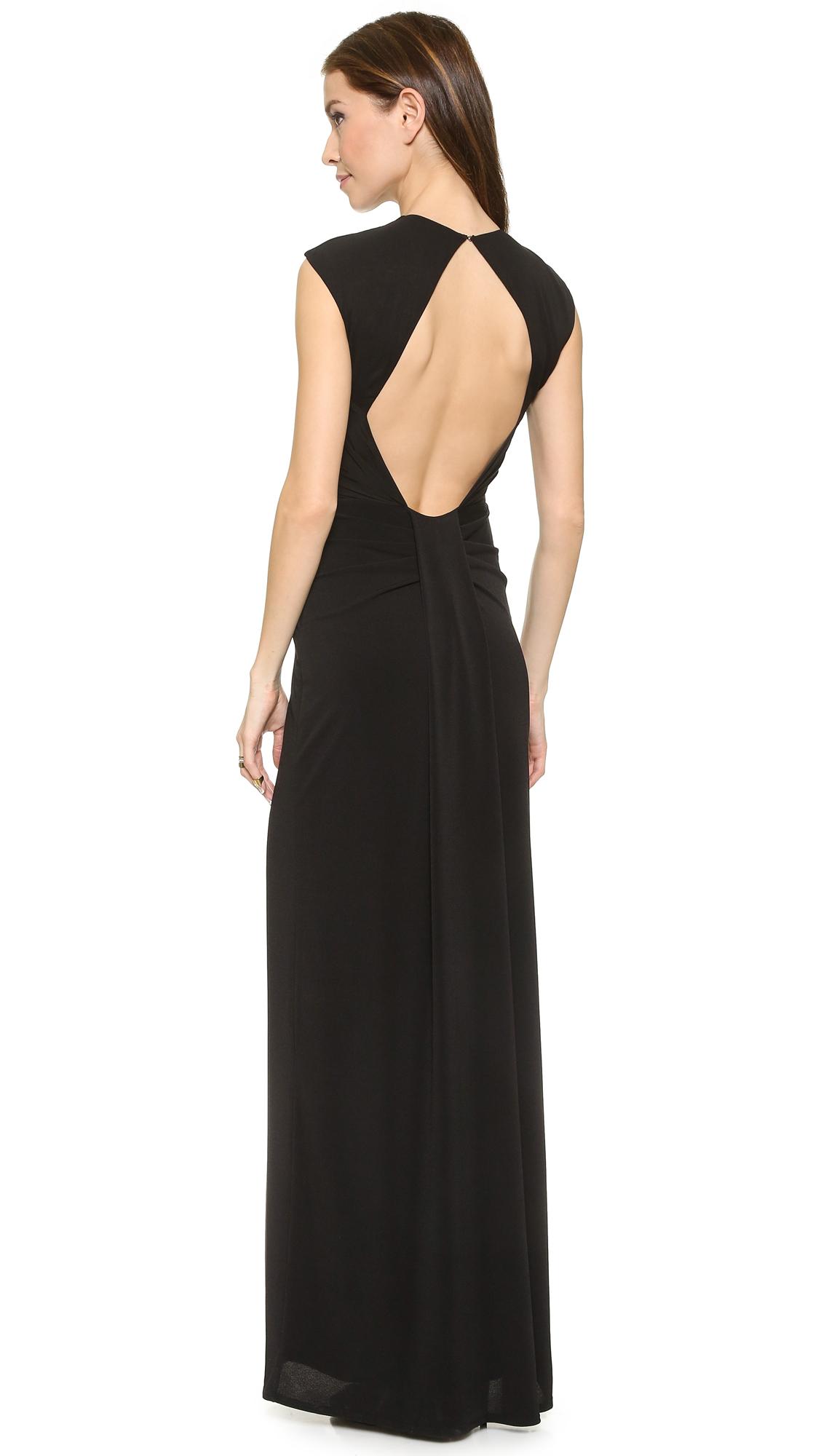 Lyst Rachel Zoe Amara Sheer Inset Maxi Dress In Black
