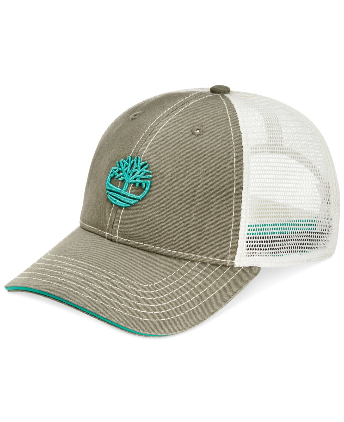 caee4d3846b Lyst - Timberland Cotton Twill Trucker Hat in Green for Men