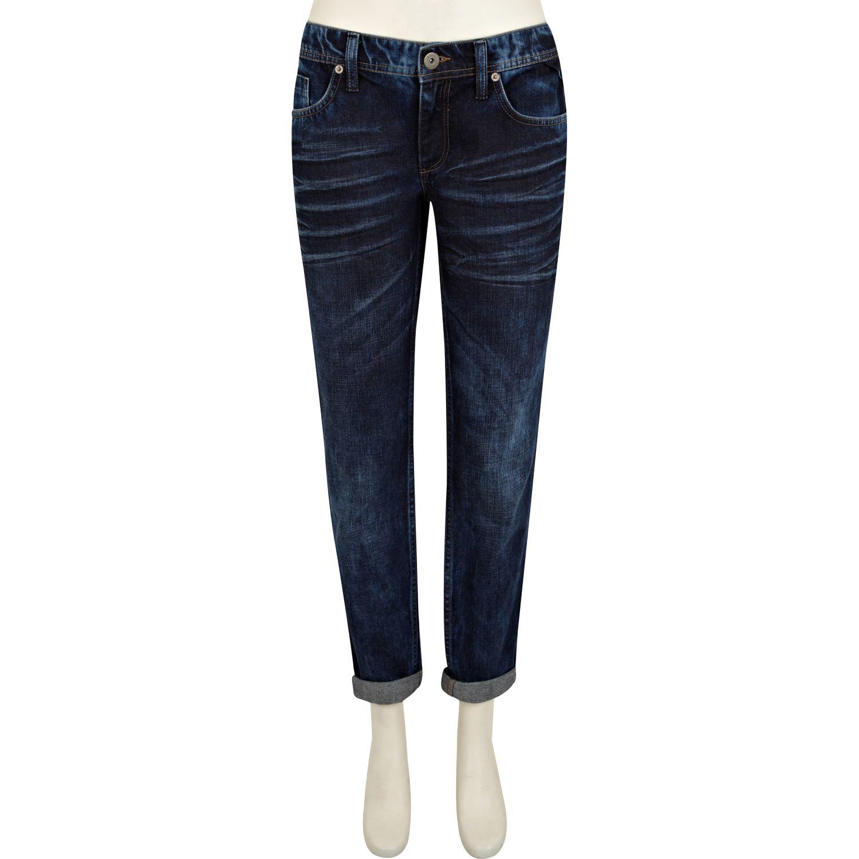 River island Dark Denim Cassie Low Rise Boyfriend Jeans in Blue | Lyst