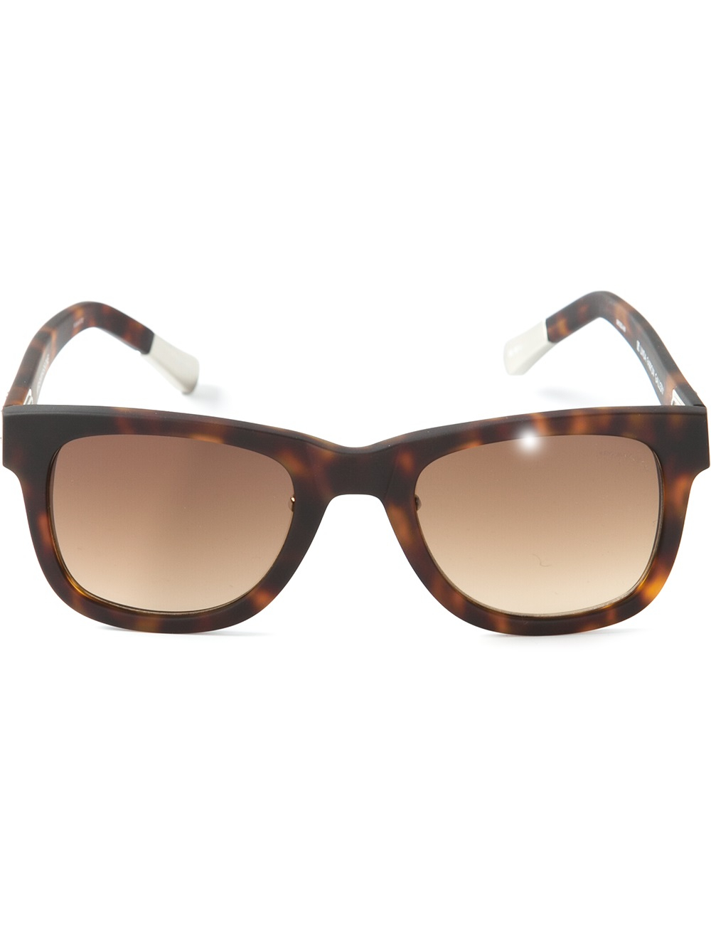 Vans Glasses Frame : Kris Van Assche Brown Square Frame Sunglasses for Men Lyst