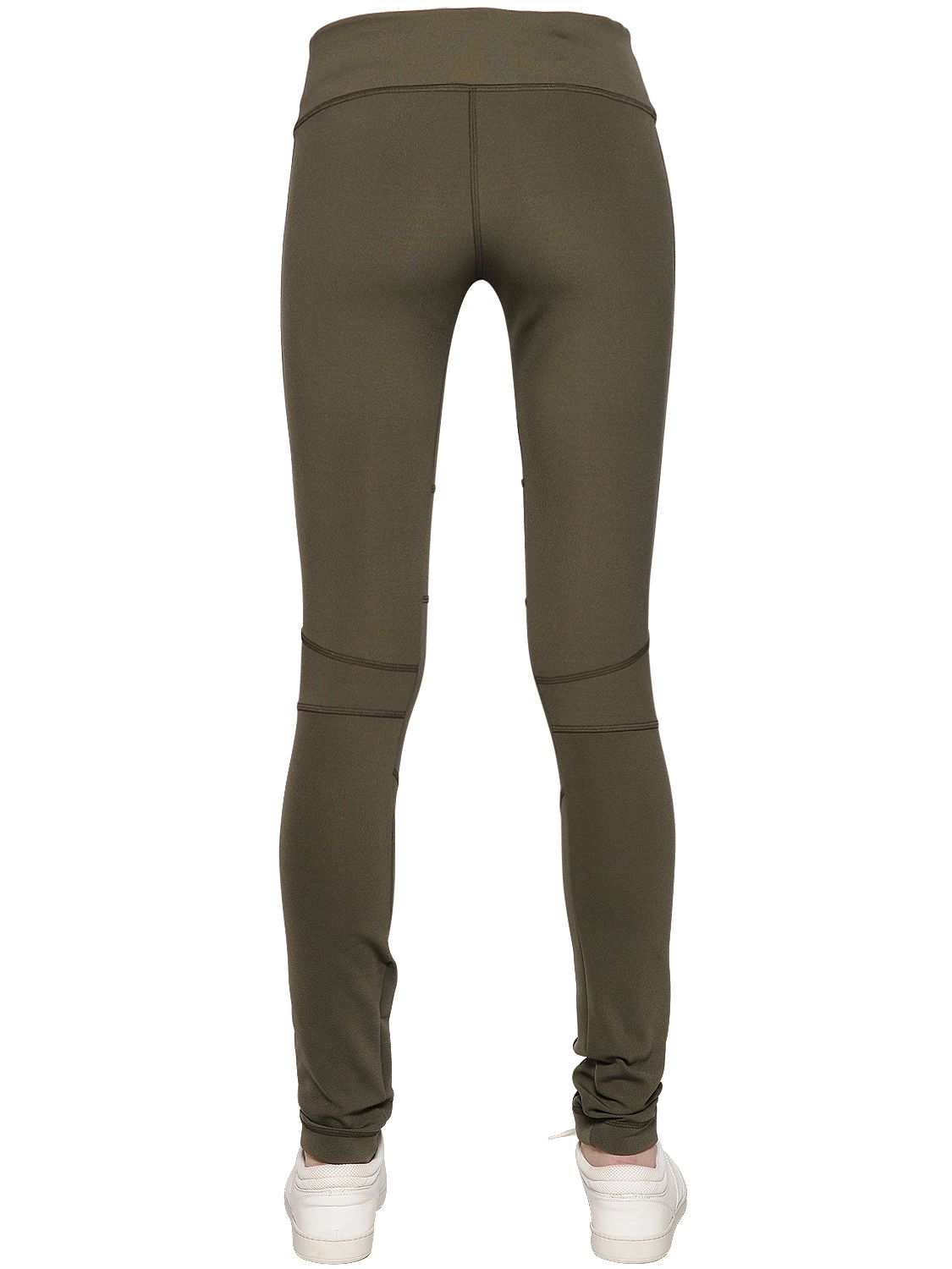 51ee5d5f1f4ad Callens Microfiber Leggings With Mesh Inserts in Green - Lyst