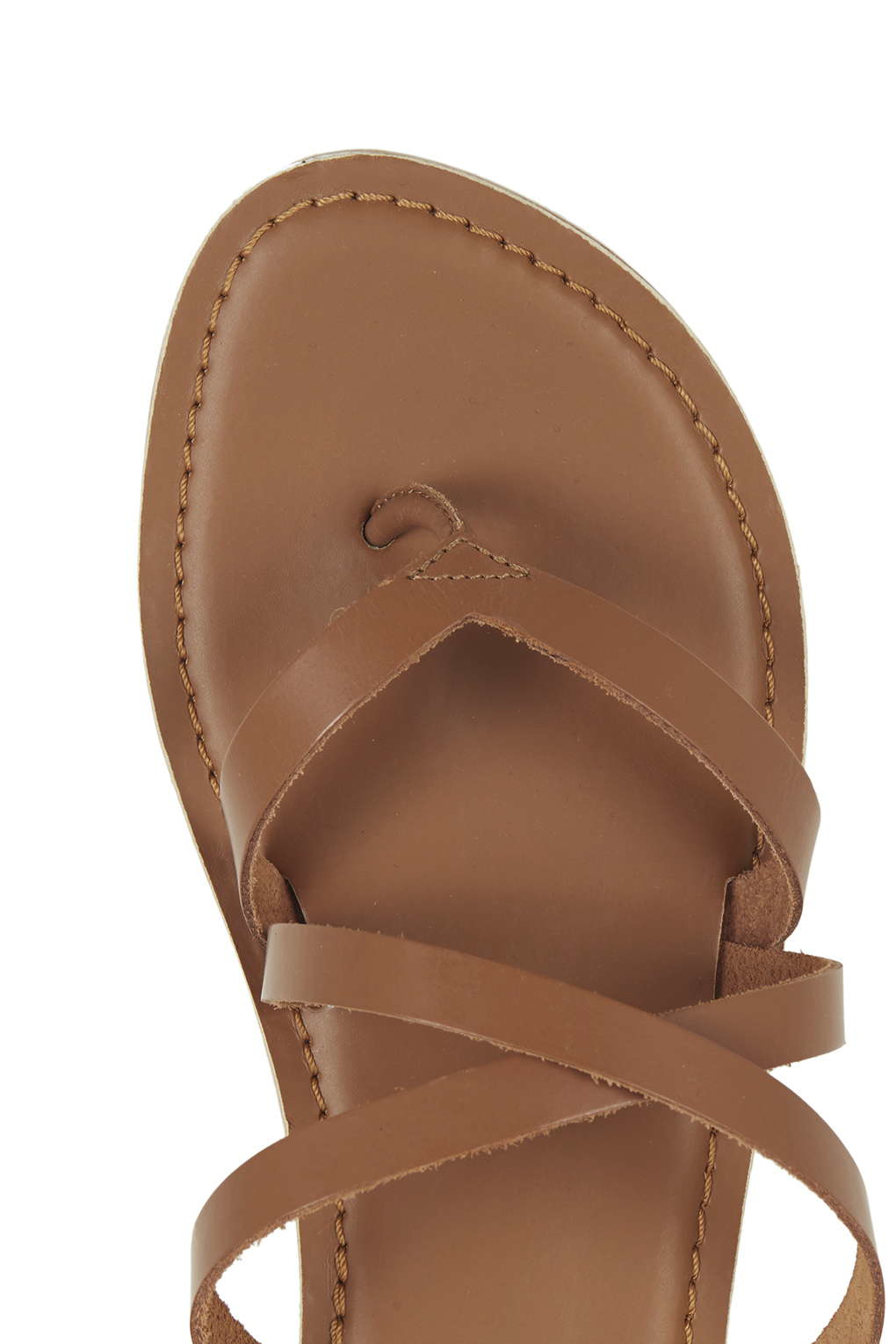 566c177f9dc3 Lyst - TOPSHOP Hercules Strappy Leather Sandals in Brown