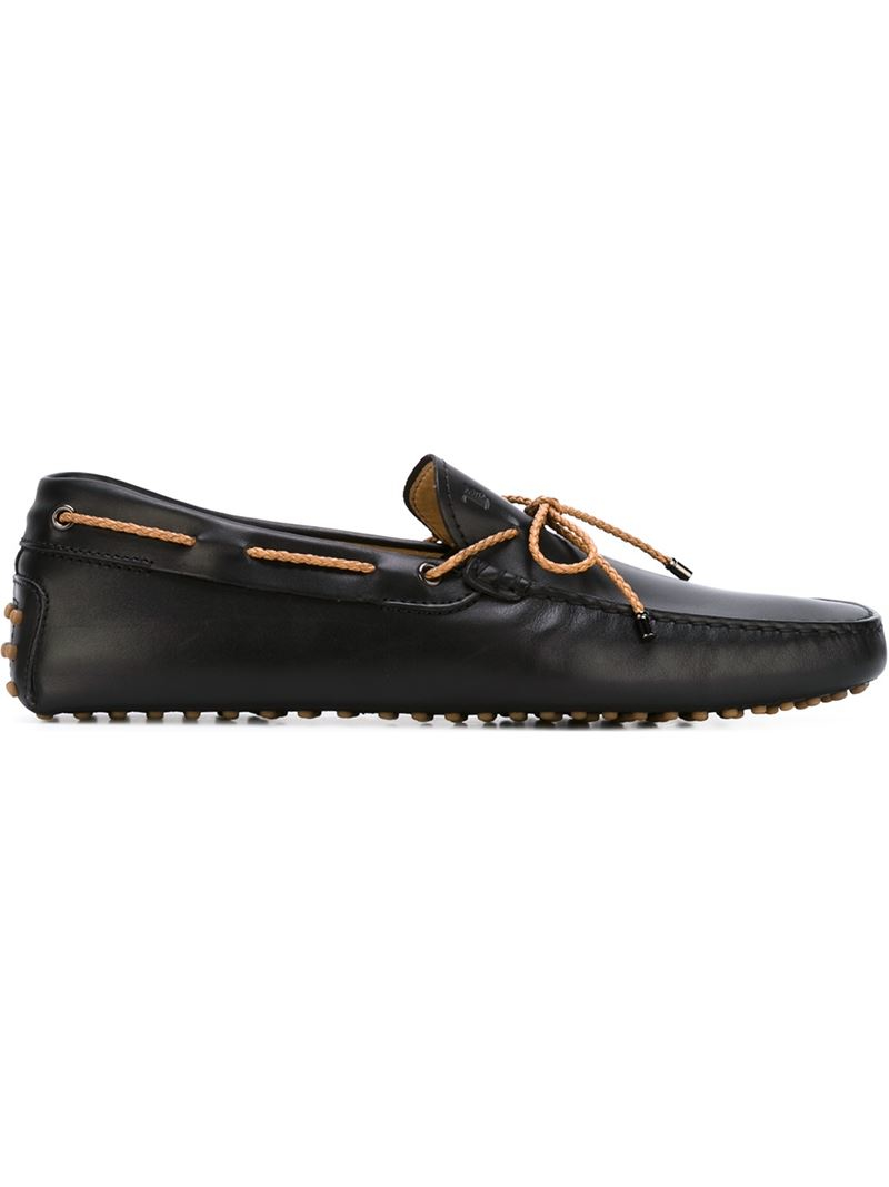tod s tod s gommino driving shoes in black for lyst
