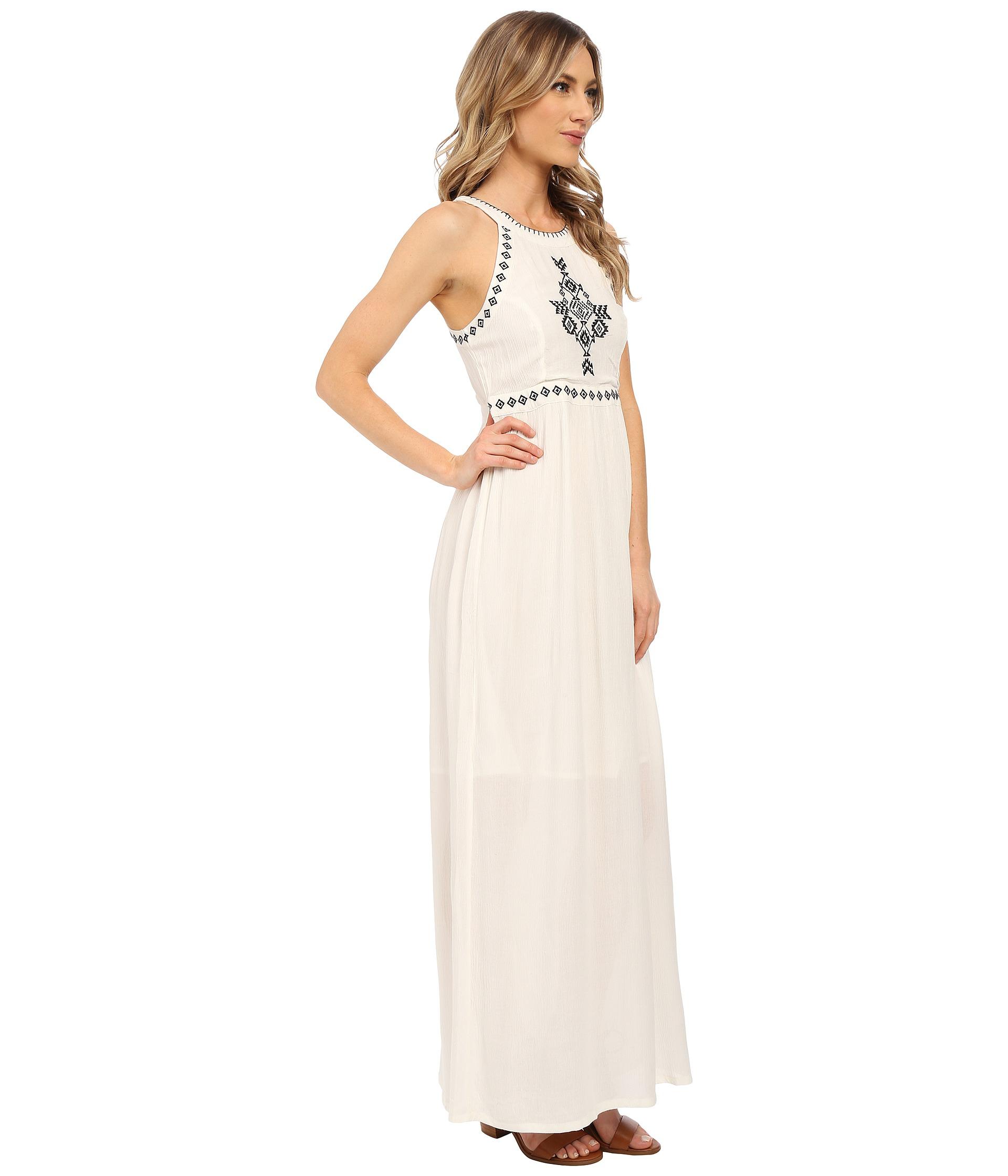 Rip curl Lolita Maxi Dress in White | Lyst