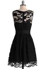 Modcloth When The Night Comes Dress in Black - Lyst