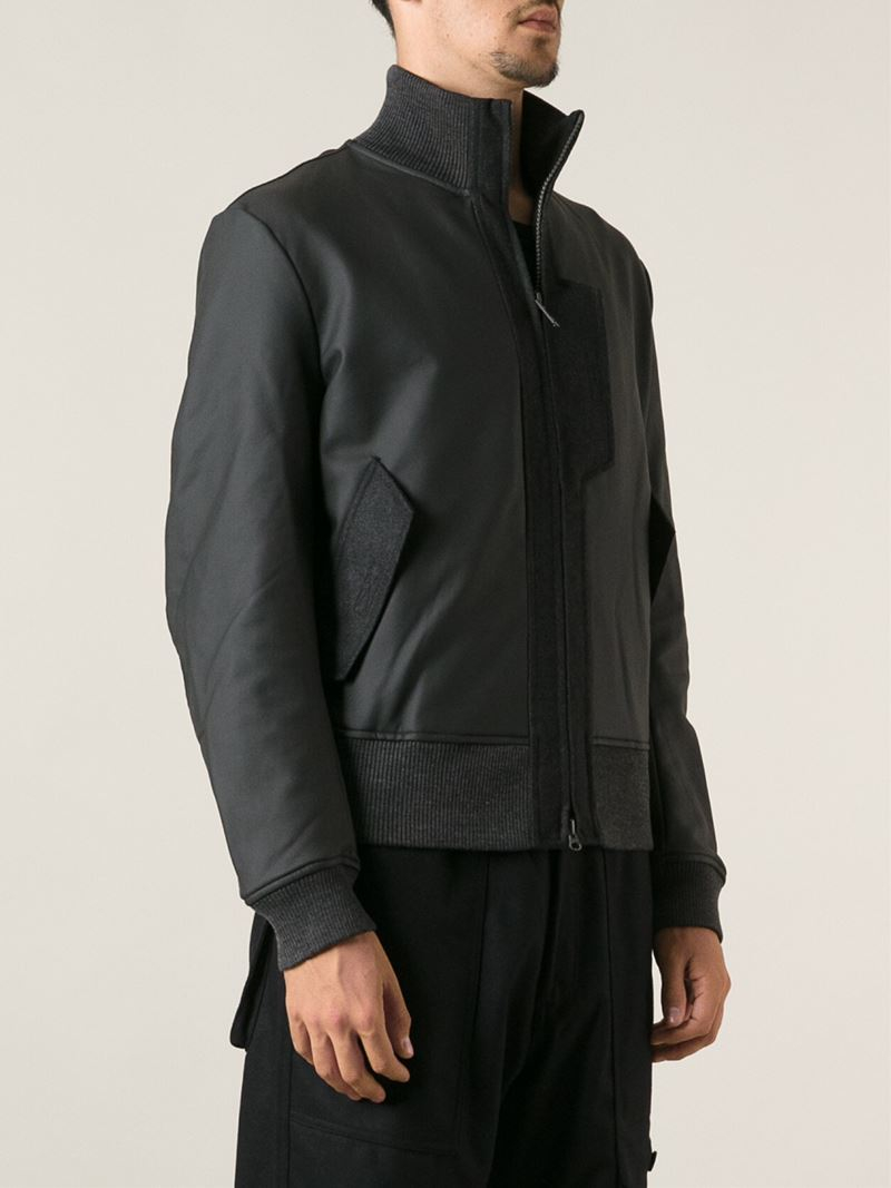 Lyst Y 3 High Collar Bomber Jacket In Black For Men