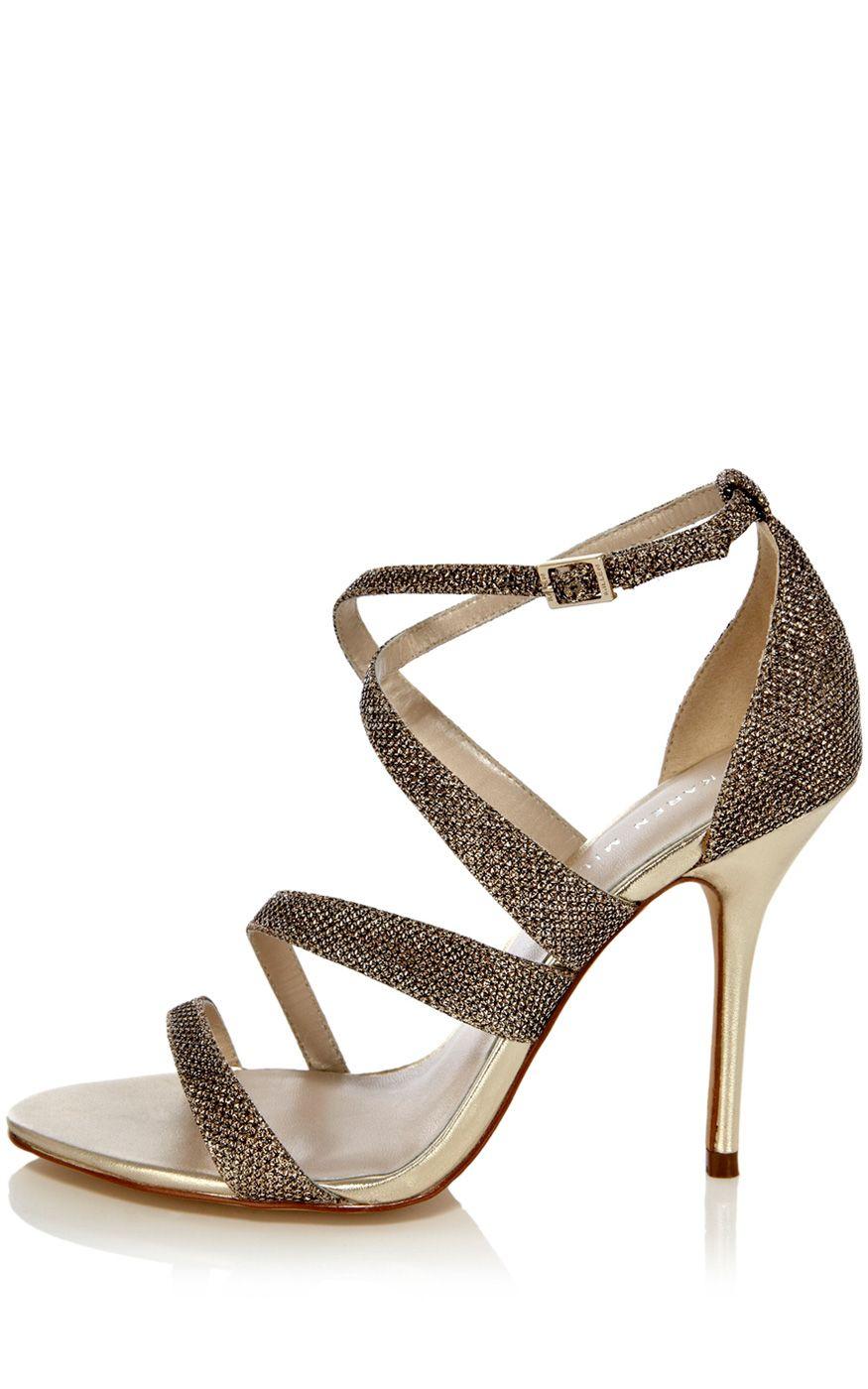 Shoes For Wedding 54 Nice KAREN MILLEN Gold Crystal