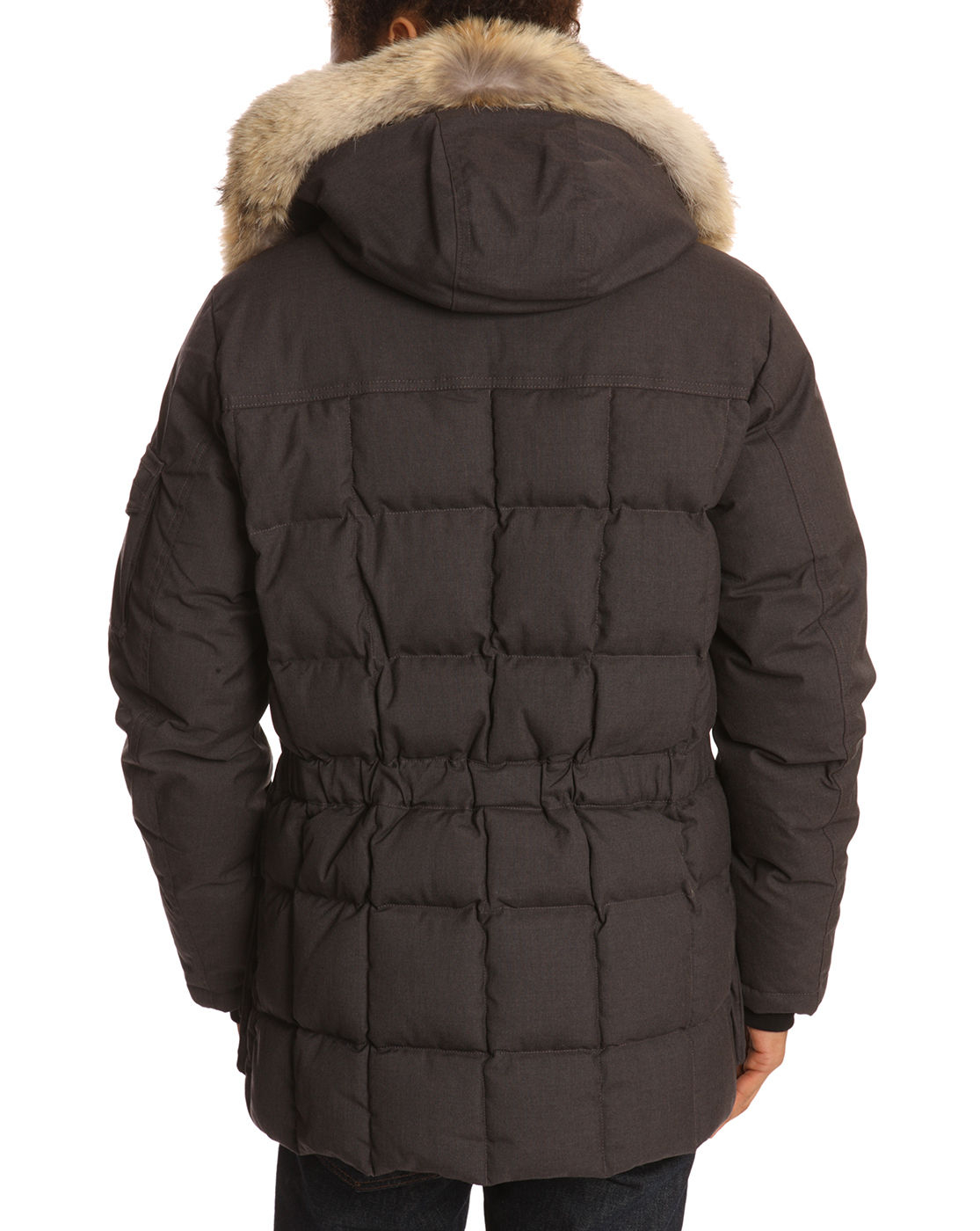 woolrich teton blizzard grey parka in gray for men grey lyst. Black Bedroom Furniture Sets. Home Design Ideas