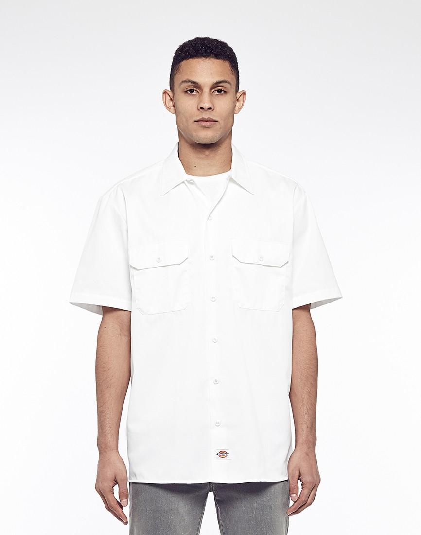 Dickies 1574 Short Sleeve Work Shirt White in White for Men | Lyst
