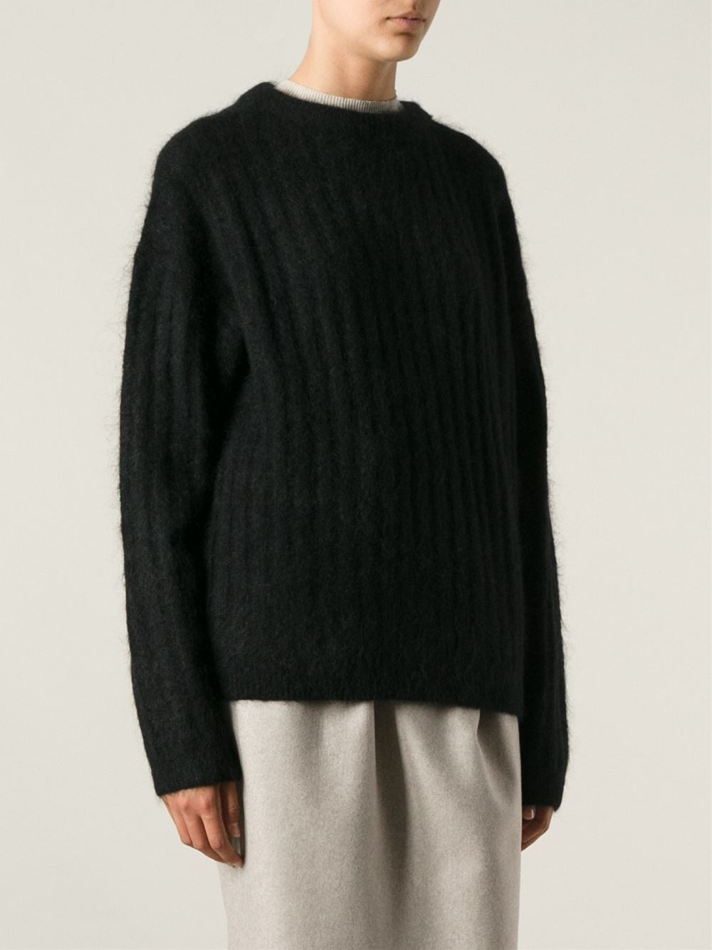 Acne studios Knit Sweater in Black | Lyst