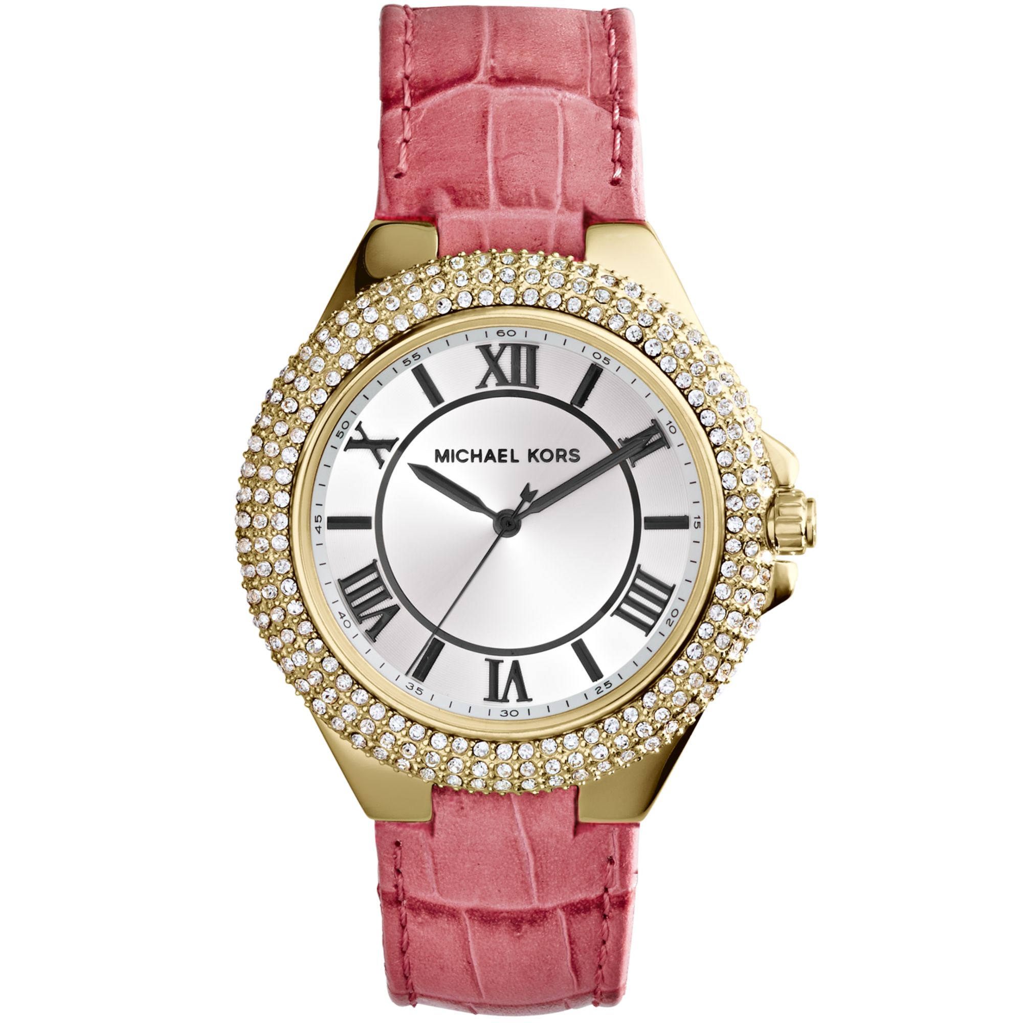 rose watch goldtone guess digital women tone womens s gold watches p pink