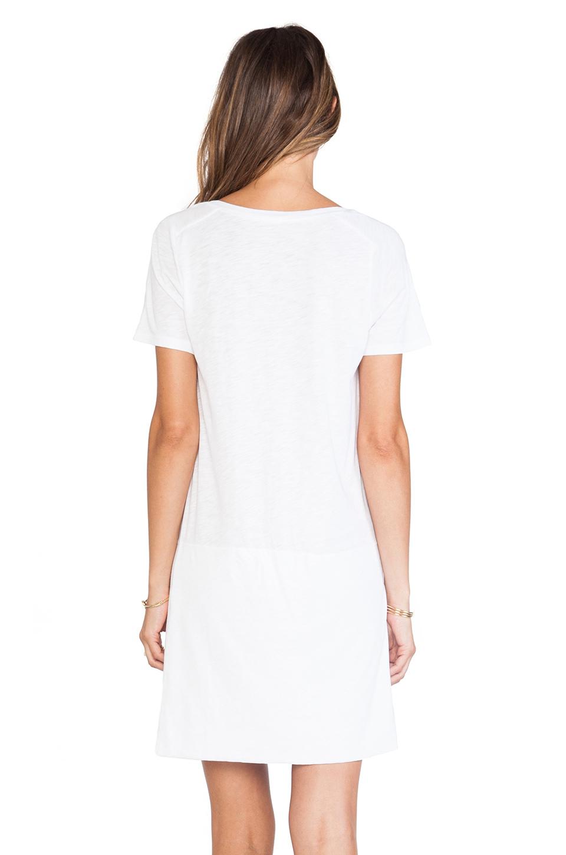 Lyst - Monrow Slub Cotton Modal T-Shirt Dress in White