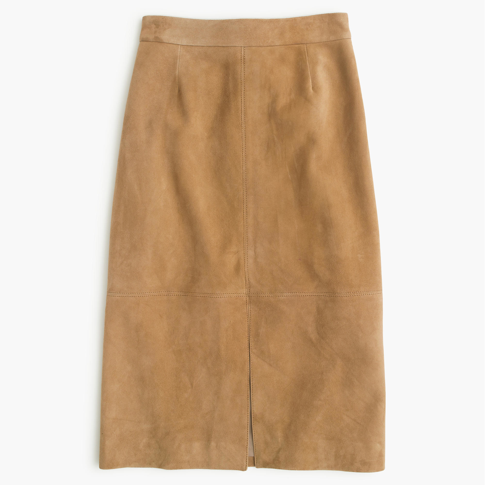 J.crew Collection A-line Midi Skirt In Suede in Natural | Lyst