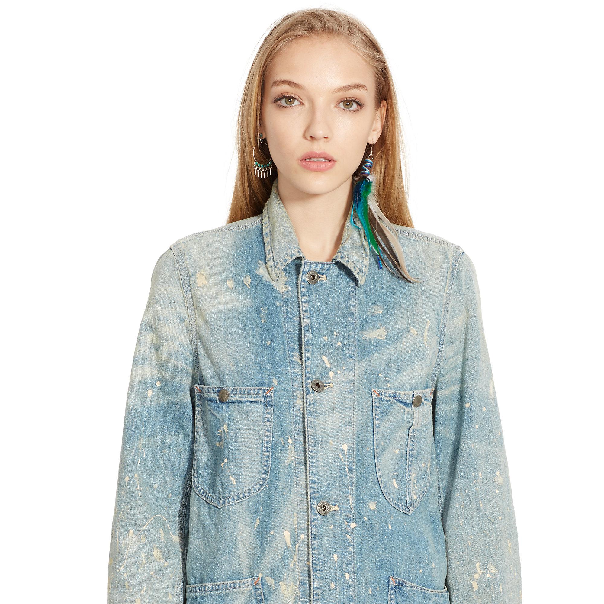 Denim Amp Supply Ralph Lauren Paint Splattered Chore Jacket