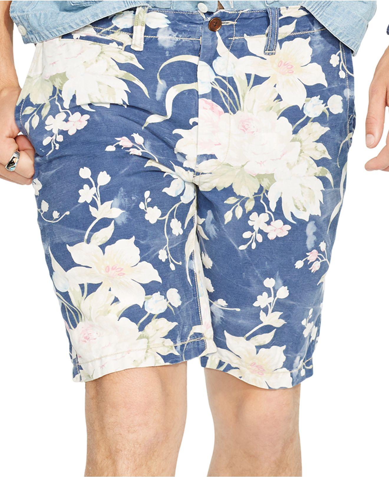 33b3a7d8bc98 Lyst - Polo Ralph Lauren Straight-fit Floral Maritime Short for Men
