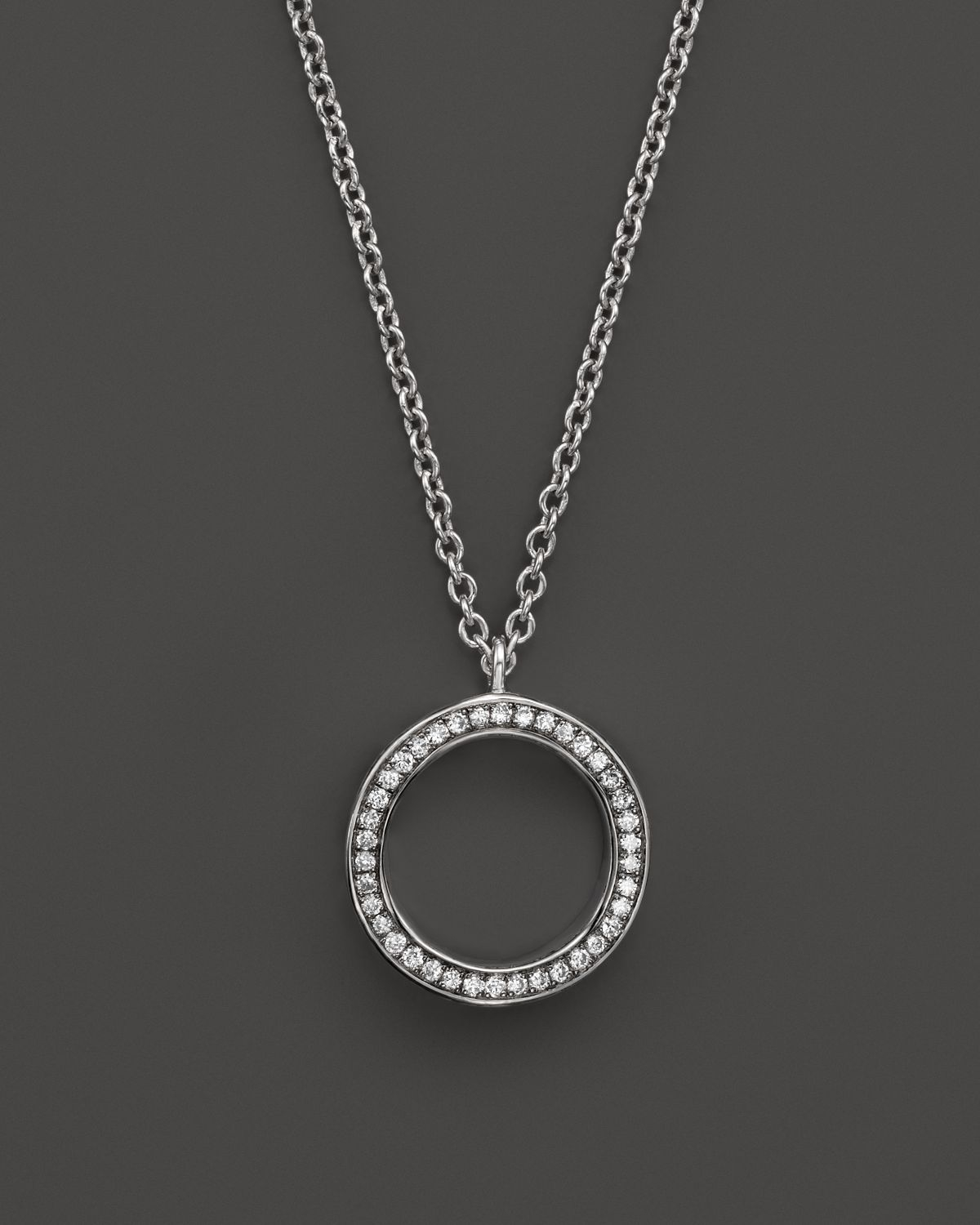 Lyst ippolita sterling silver stella diamond circle pendant gallery previously sold at bloomingdales womens circle necklaces aloadofball Images