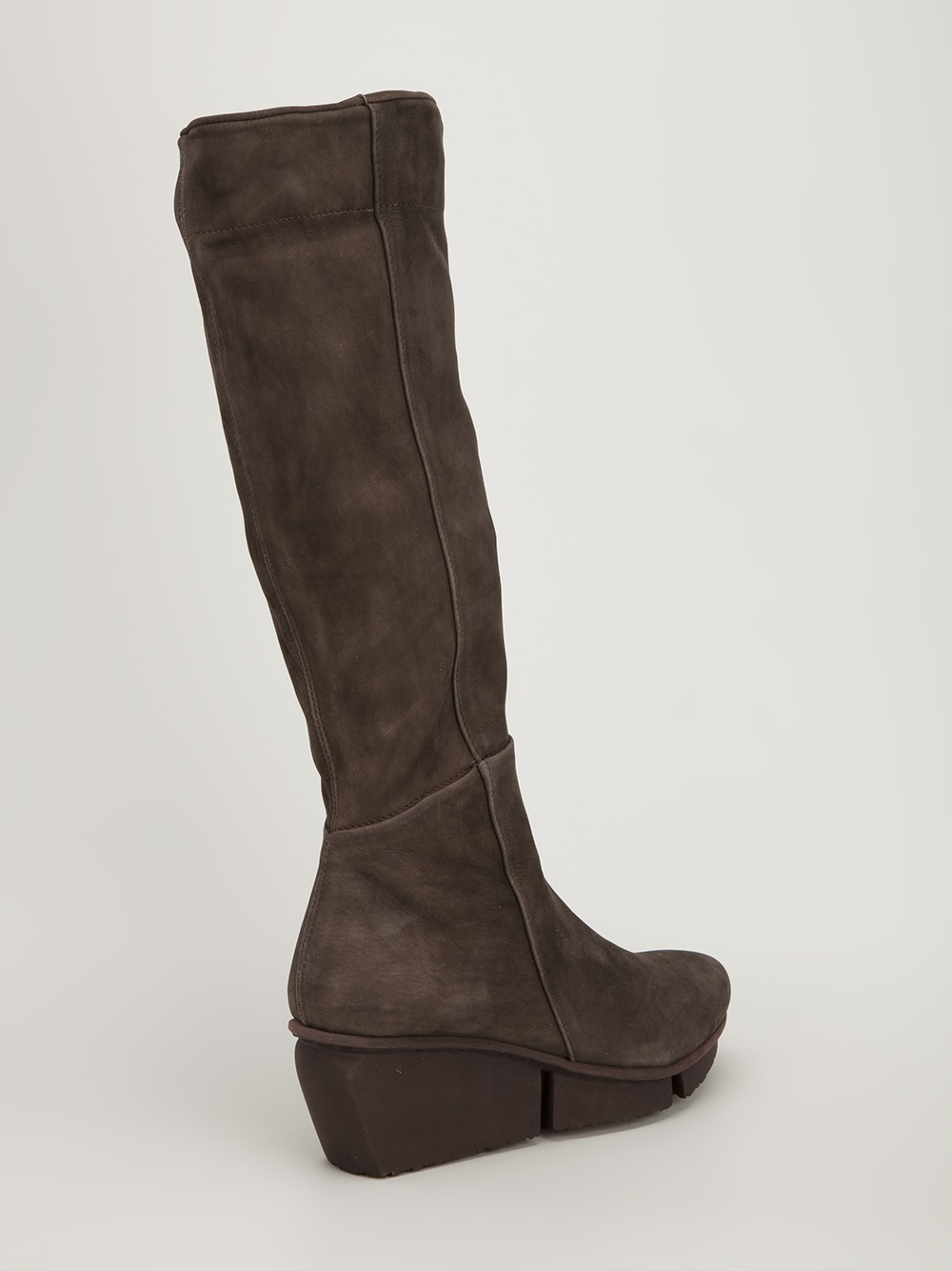 trippen wedge boot in brown lyst