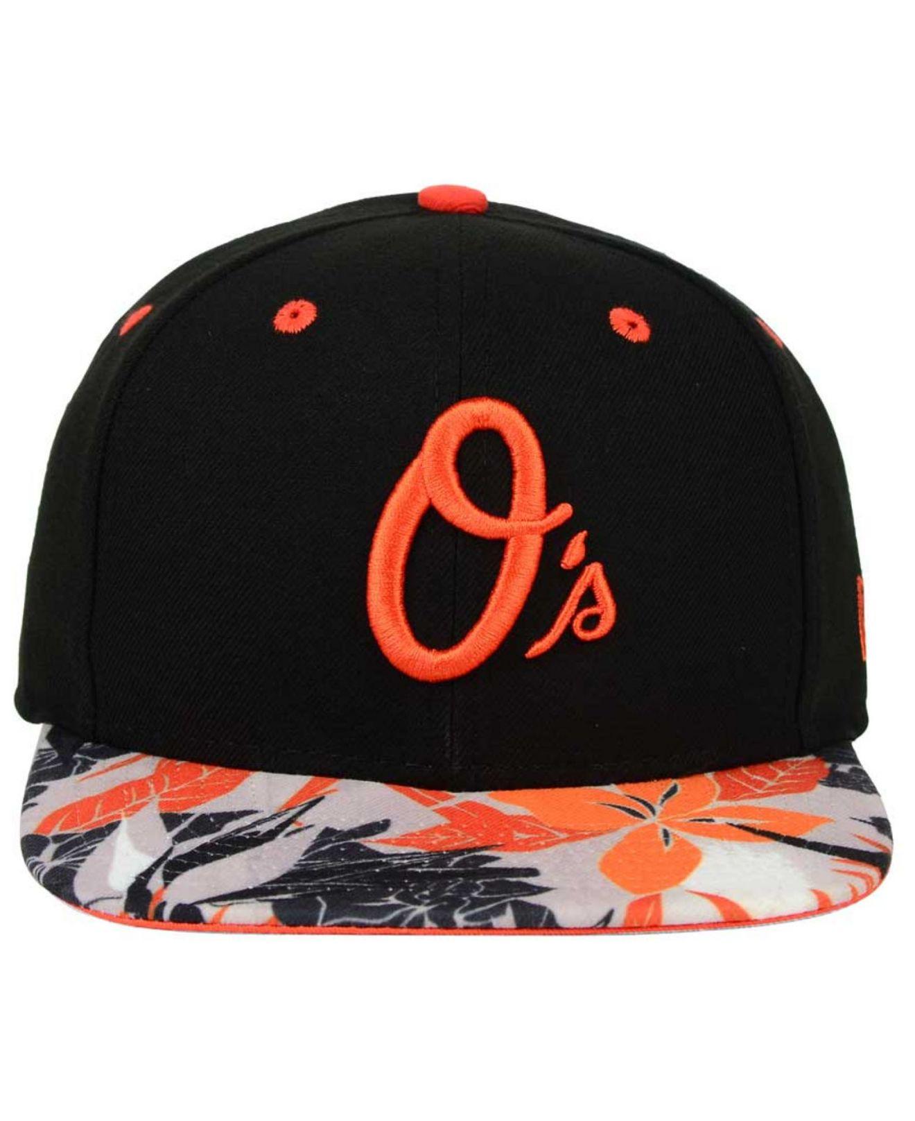 06c45952960 Lyst - KTZ Baltimore Orioles Floral Viz 9fifty Snapback Cap in Black ...