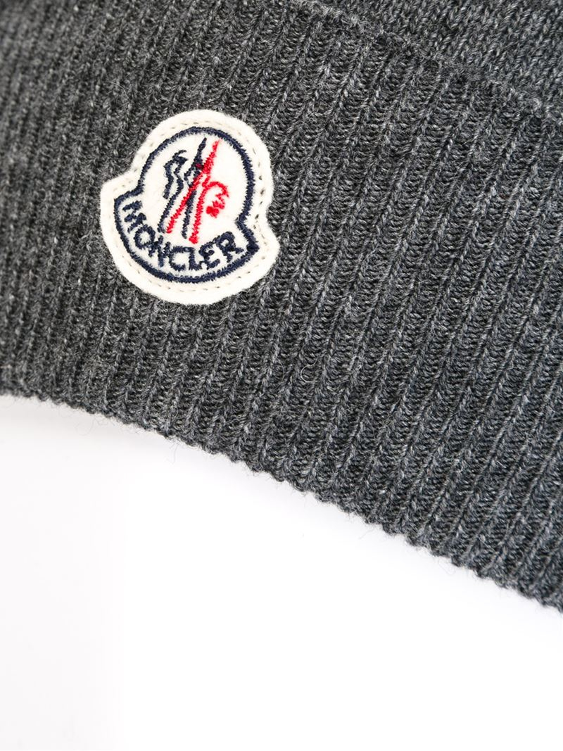 Moncler Slouchy Beanie in Gray - Lyst 67cacca65ce