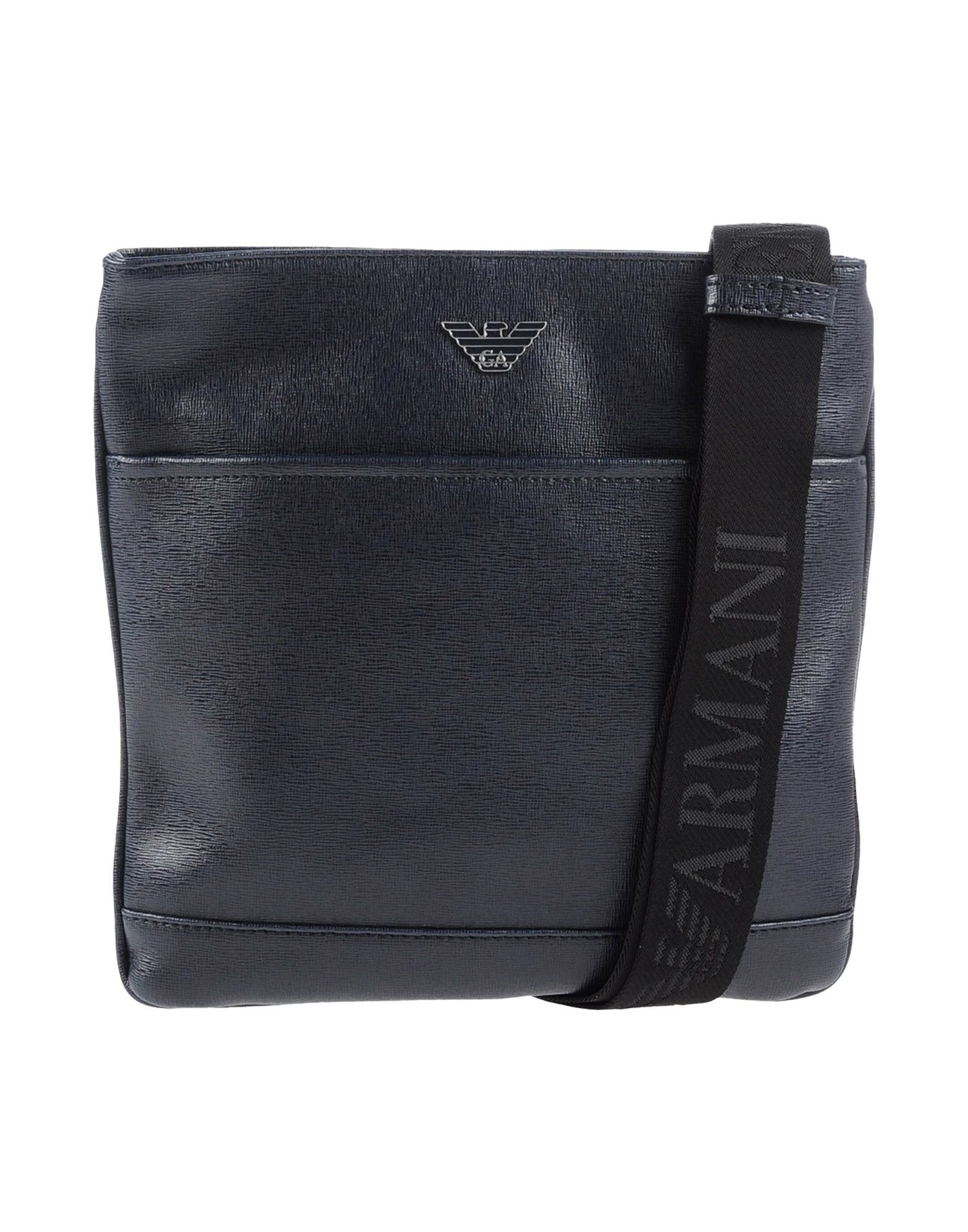Emporio armani Leather Cross-Body Bag in Blue for Men | Lyst