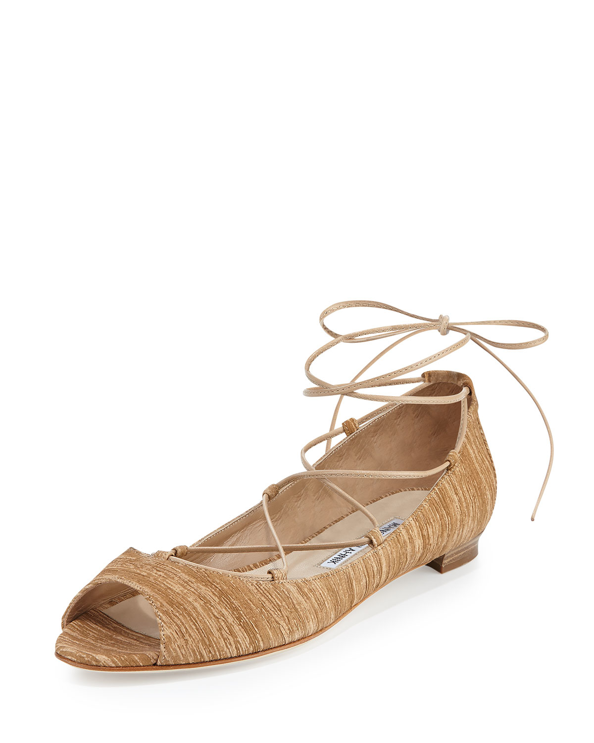 Manolo Blahnik Suede Embroidered Flats store with big discount sale cheap online clearance how much krxD6E