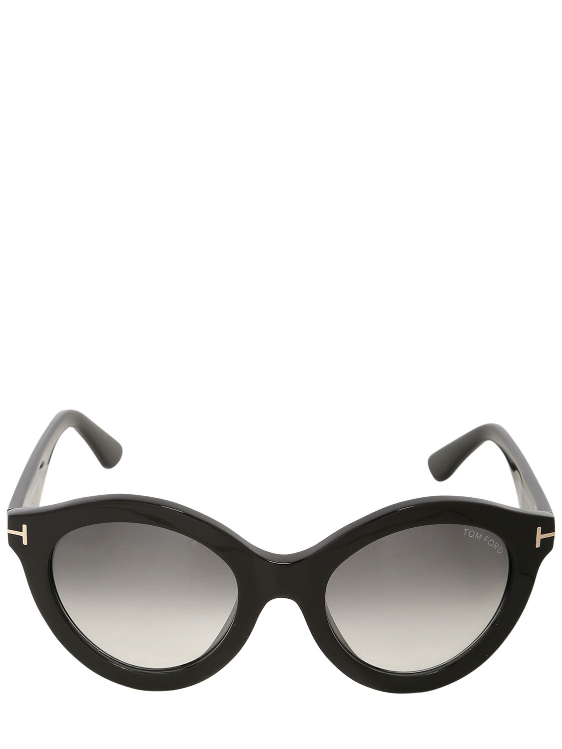 d231bfed35af Lyst - Tom Ford Chiara Rounded Shiny Acetate Sunglasses in Black for Men