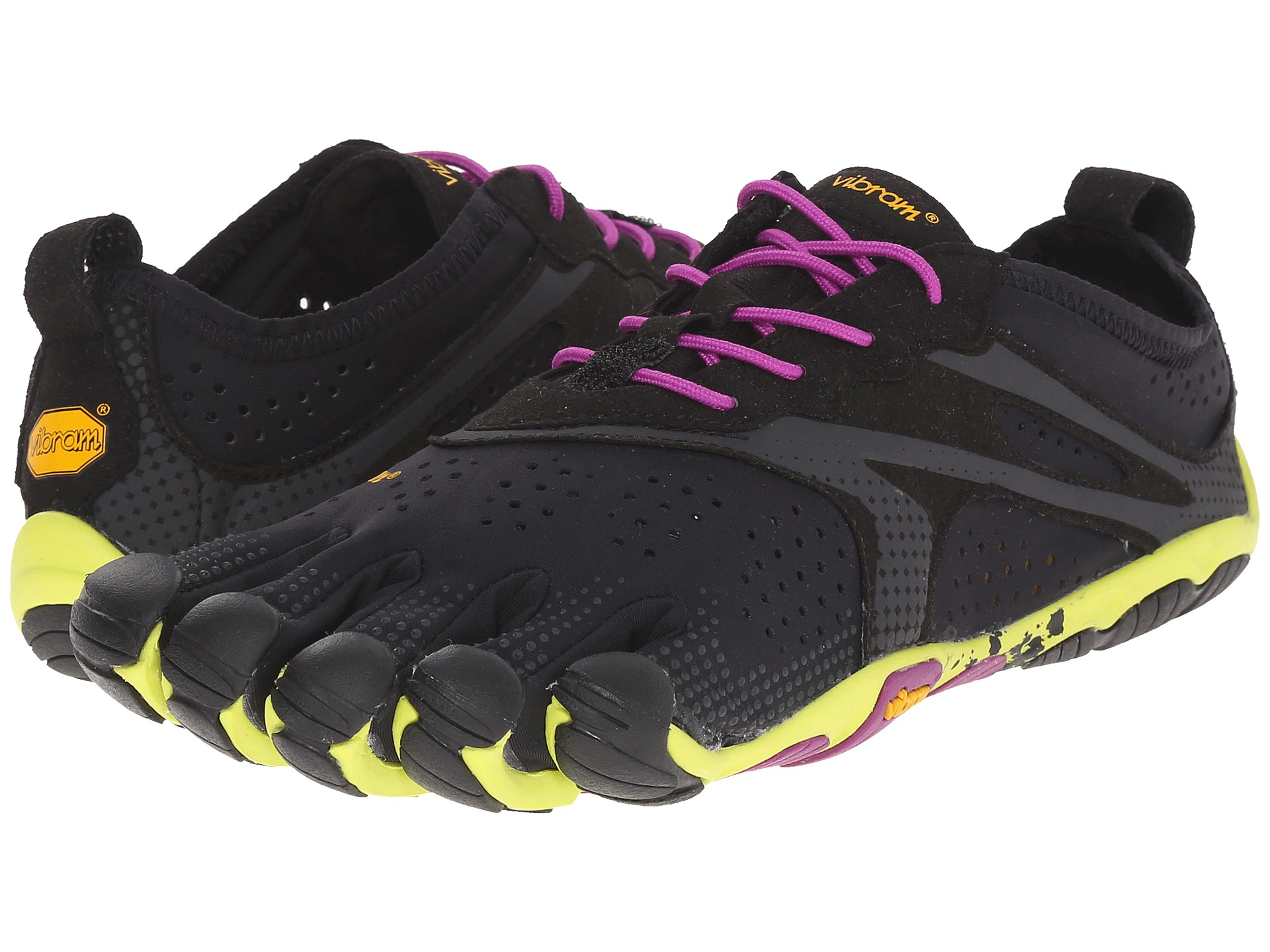 vibram fivefingers treksport yellow purple