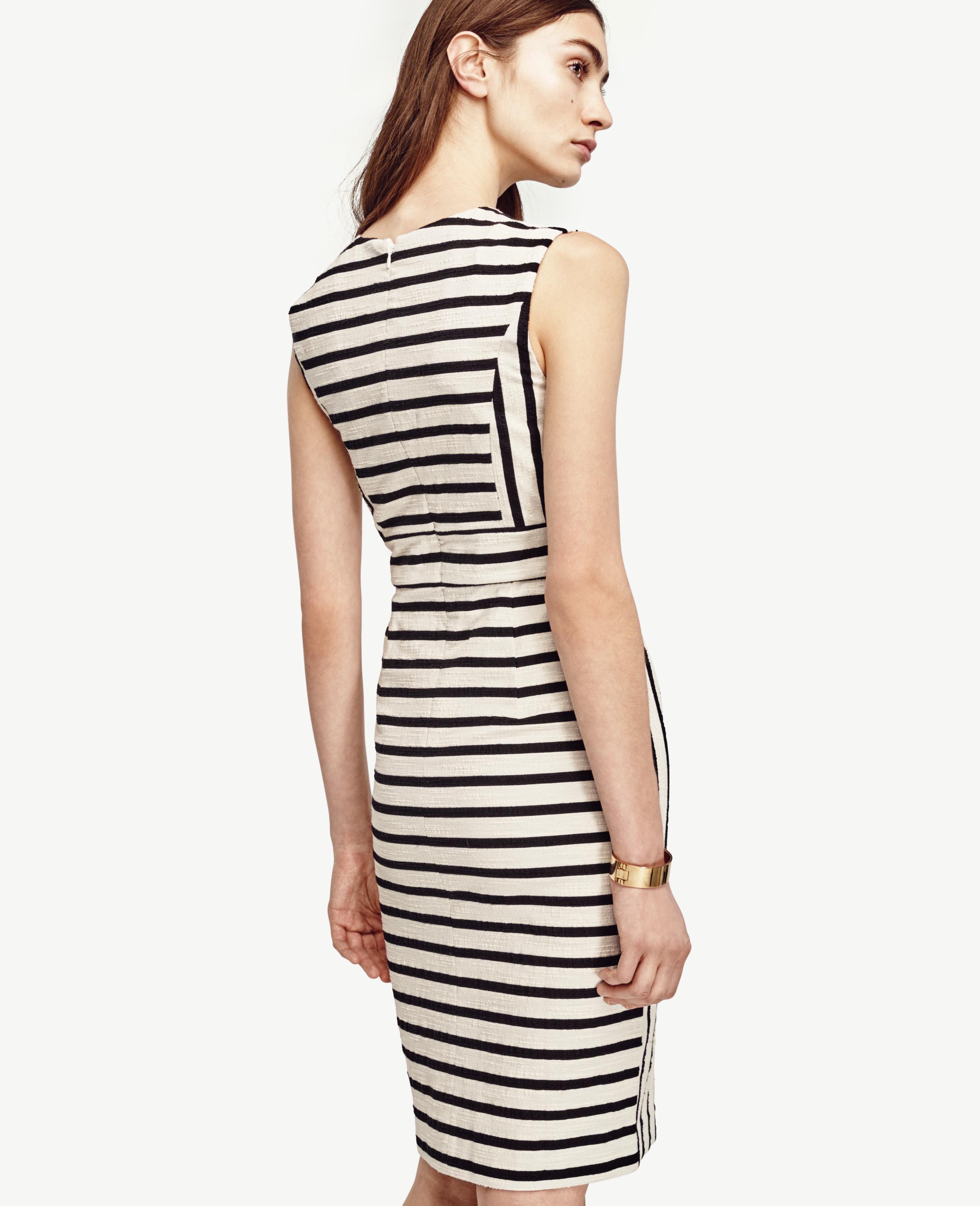 e5b84a449b Ann Taylor Split Hem Sheath Dress in Black - Lyst