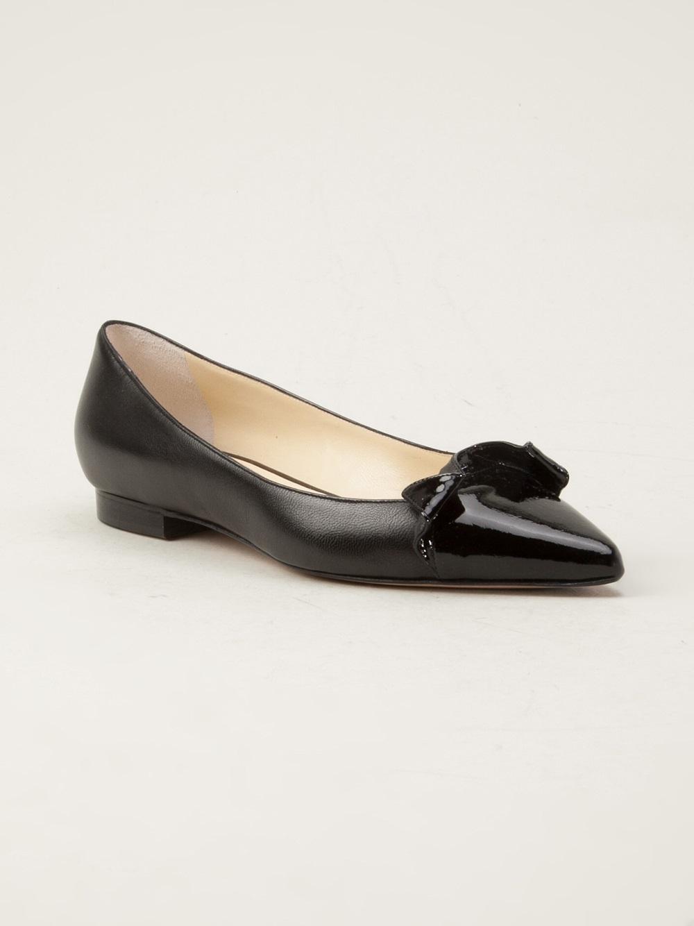 Lyst Sarah Flint Lisa 10mm Flat In Black