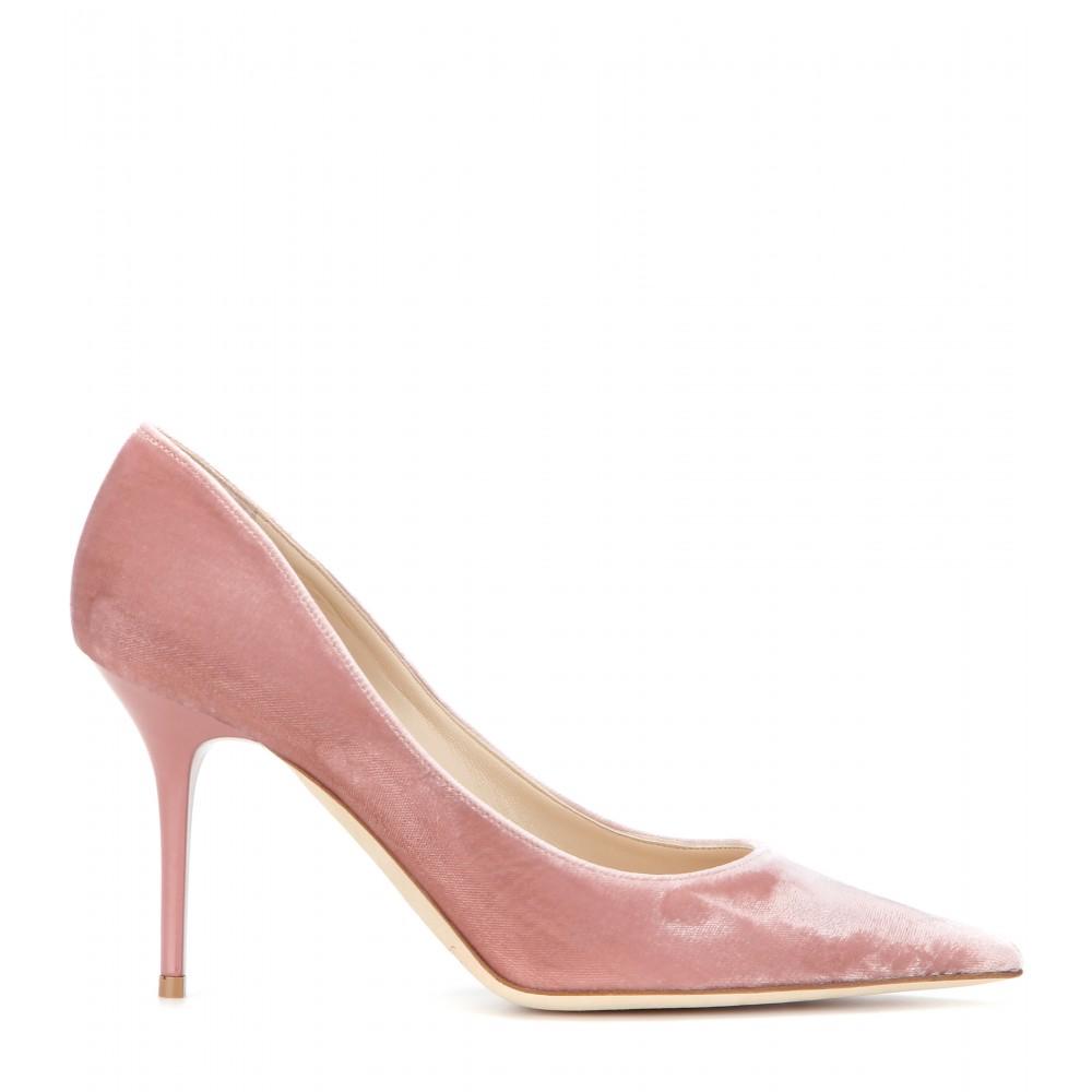 Lyst Jimmy Choo Agnes Velvet Pumps In Pink