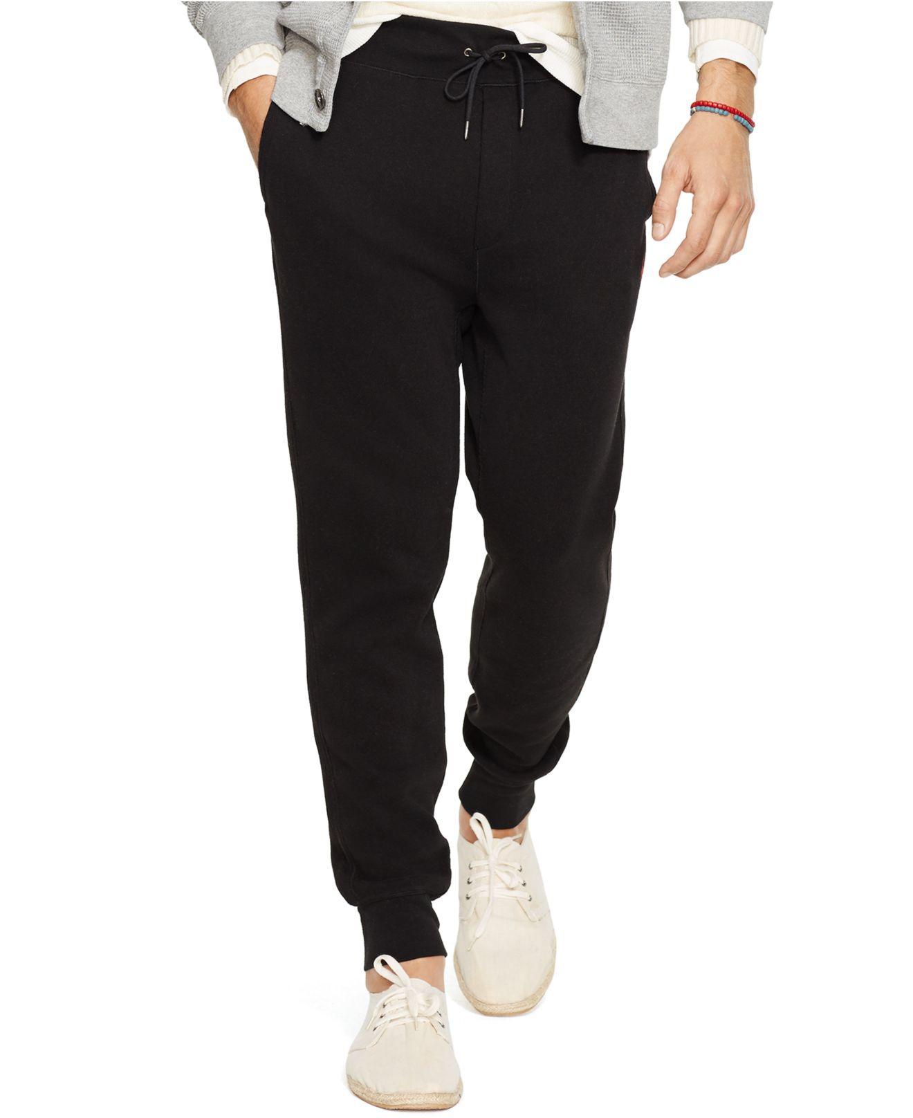 2d078293e Polo Ralph Lauren Performance French-rib Drawstring Pants in Black ...