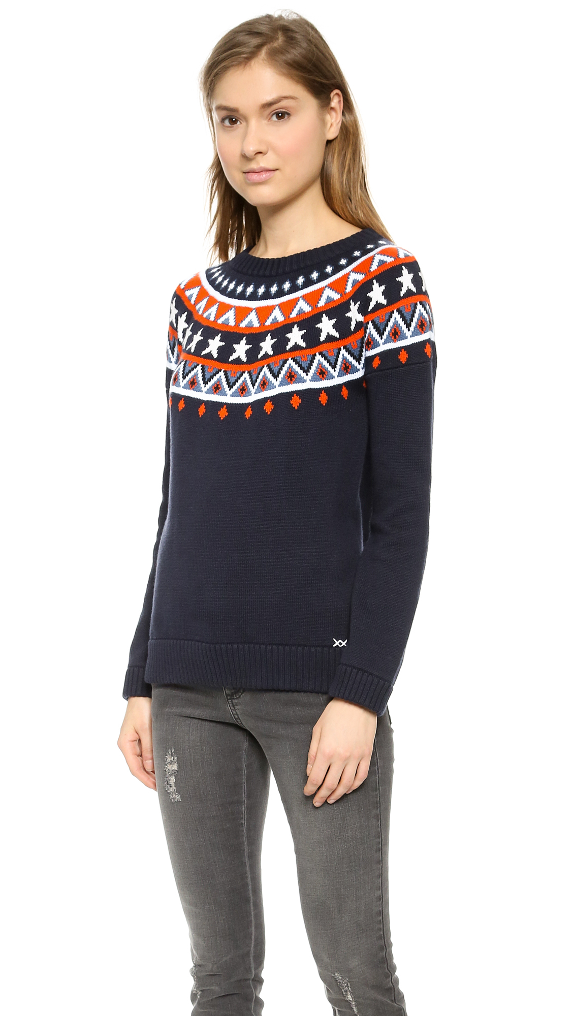 Banjo & matilda Star Fair Isle Sweater - Navy in Blue | Lyst