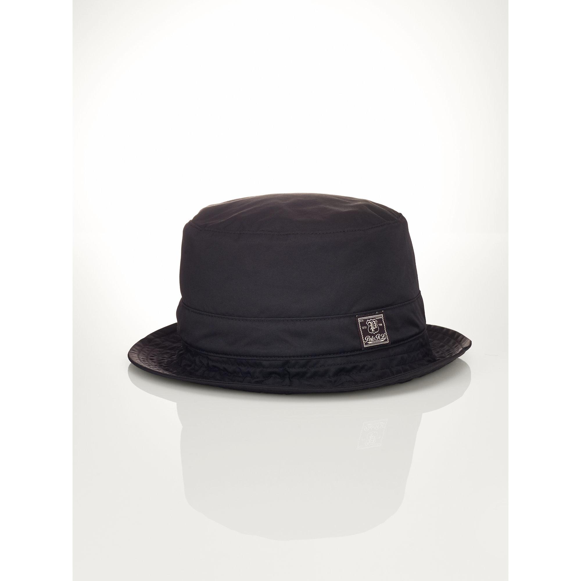 Lyst - Polo Ralph Lauren Nylon Twill Bucket Hat in Black for Men d03e8d21102