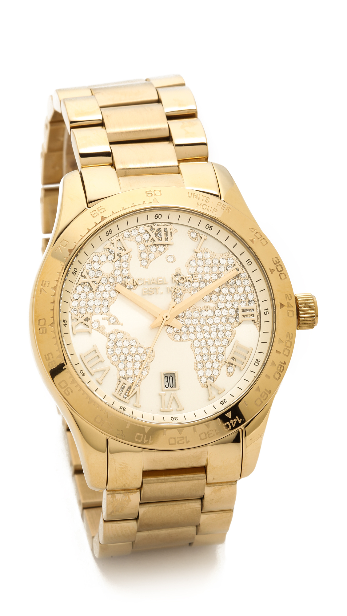 Lyst Michael Kors Global Glam Layton Watch Gold in Metallic