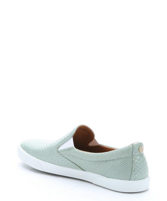 0c4219aab5f Lyst - Jimmy Choo Aloe Snake-effect Leather  demi  Slip-on Sneakers ...