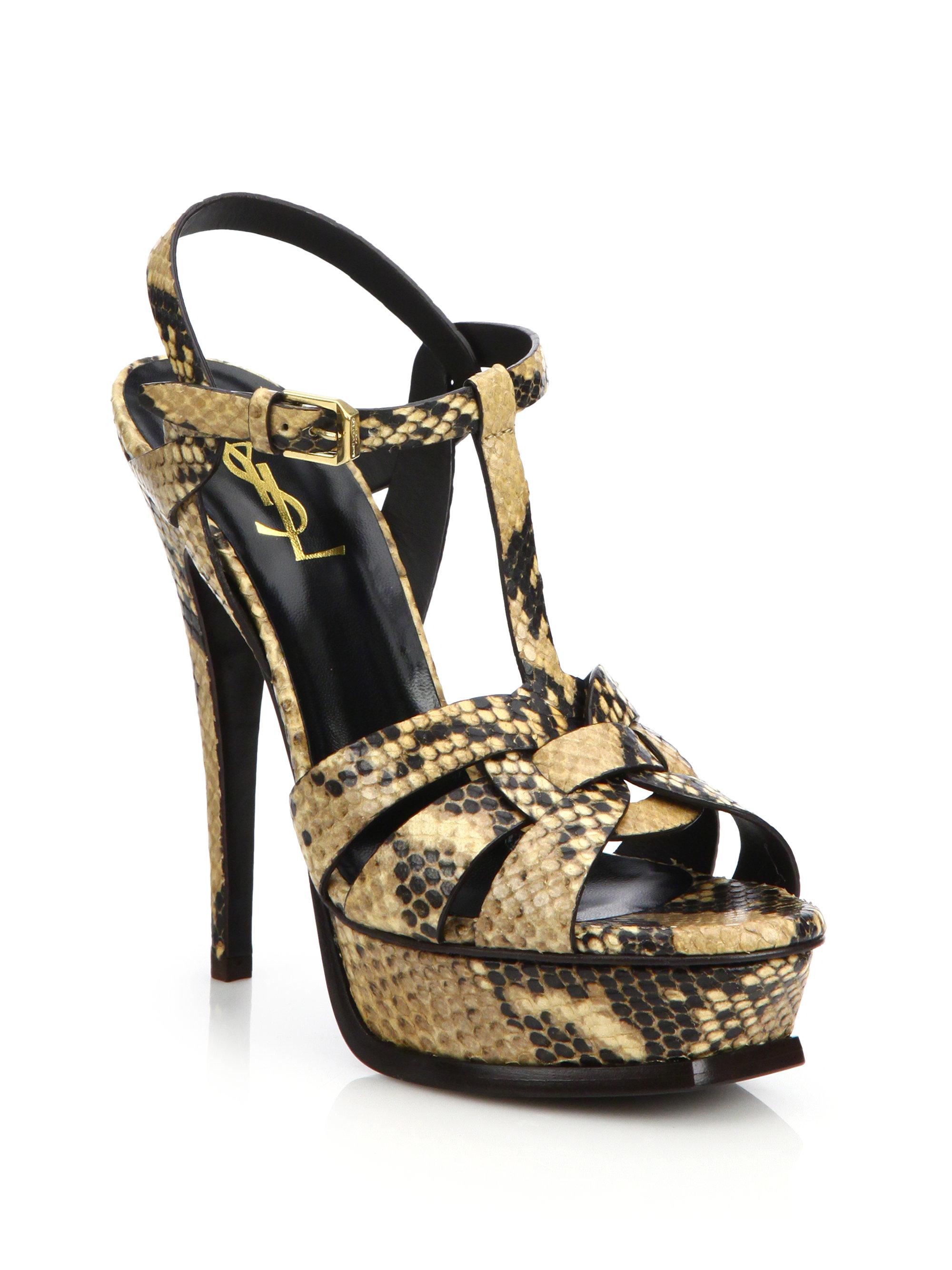 footaction online Yves Saint Laurent Tribute Snakeskin Sandals sale top quality clearance outlet discounts discount amazon unUzPn